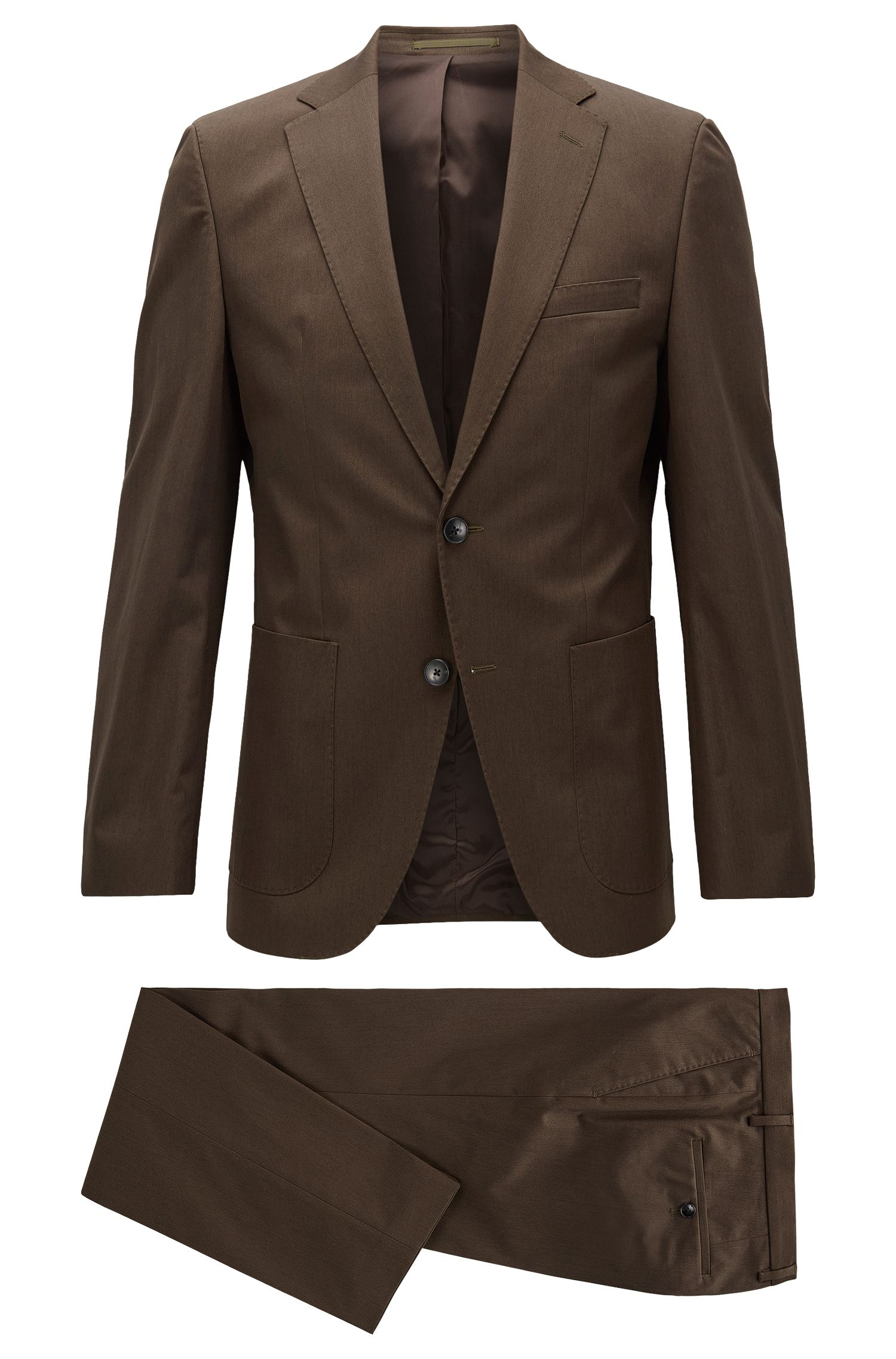 Regular-fit suit in stretch cotton
