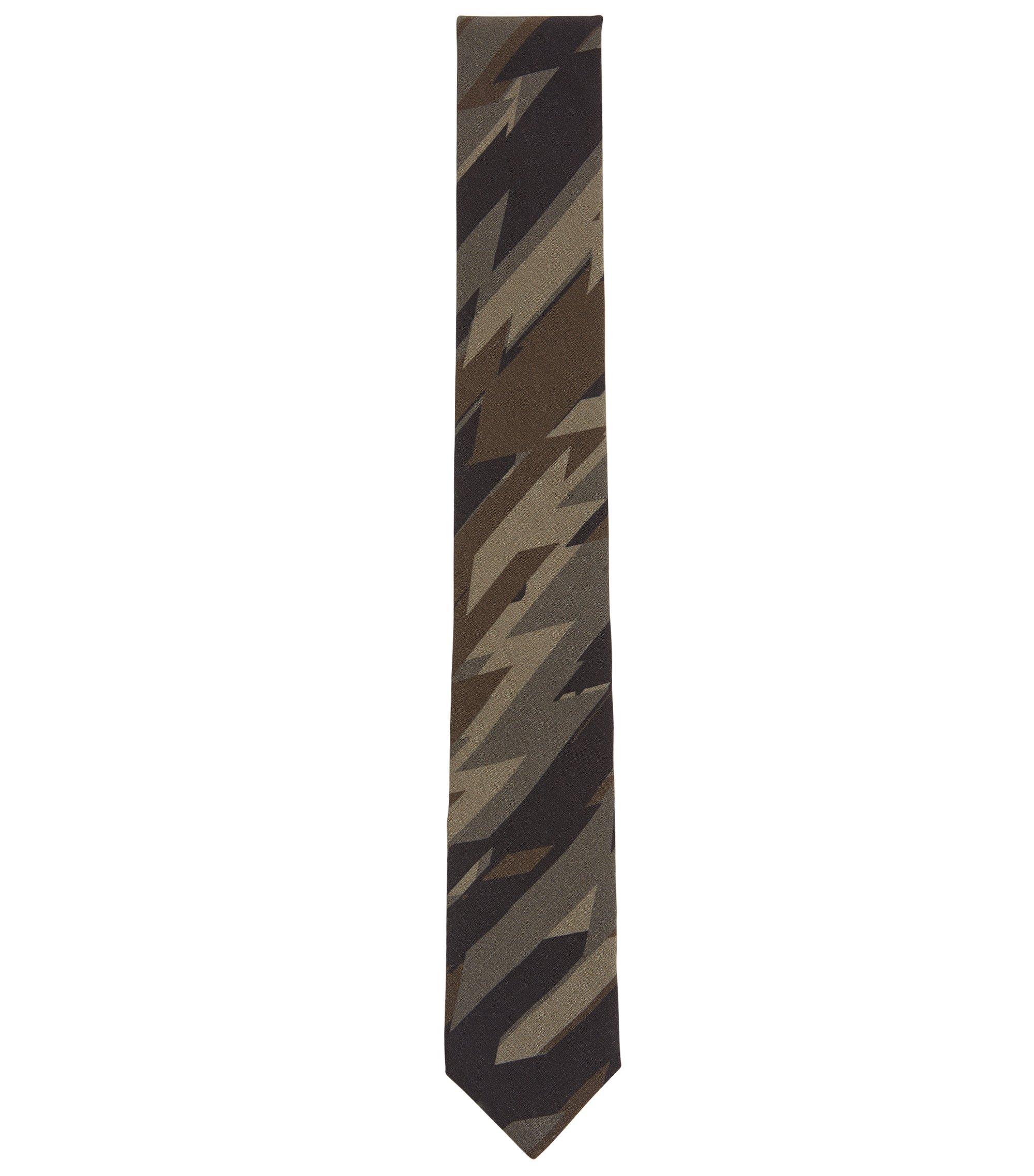 Stropdas met camouflageprint, Donkergroen