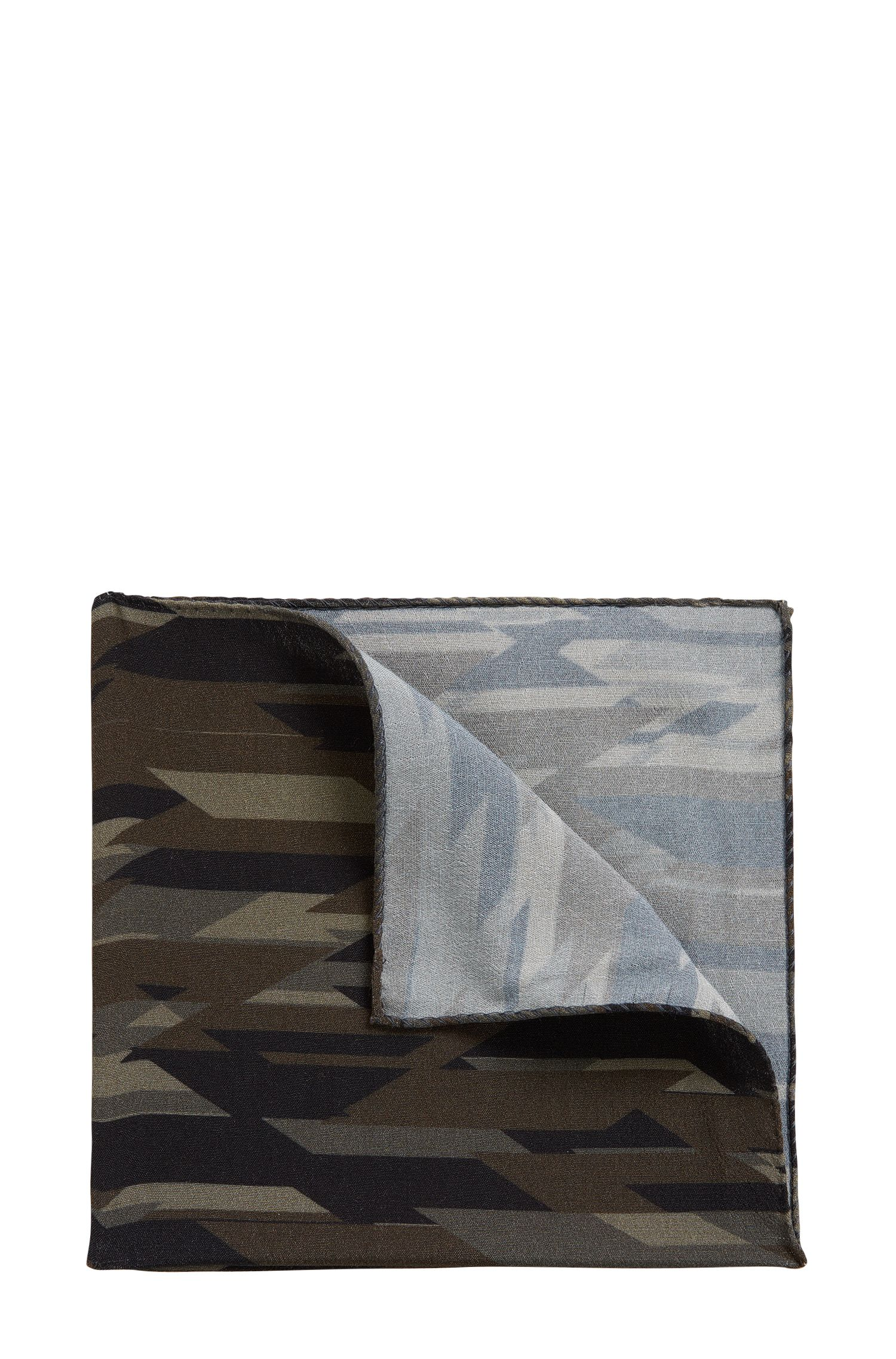 Pocket square in camouflage print
