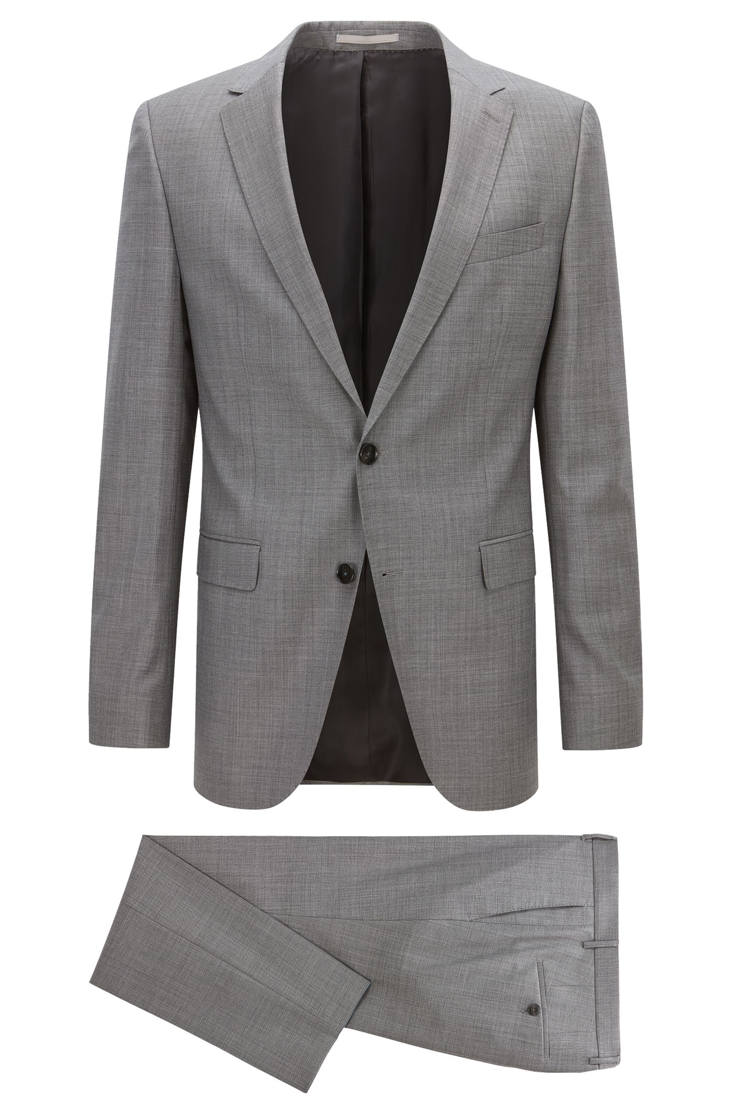 Slim-fit suit in virgin wool