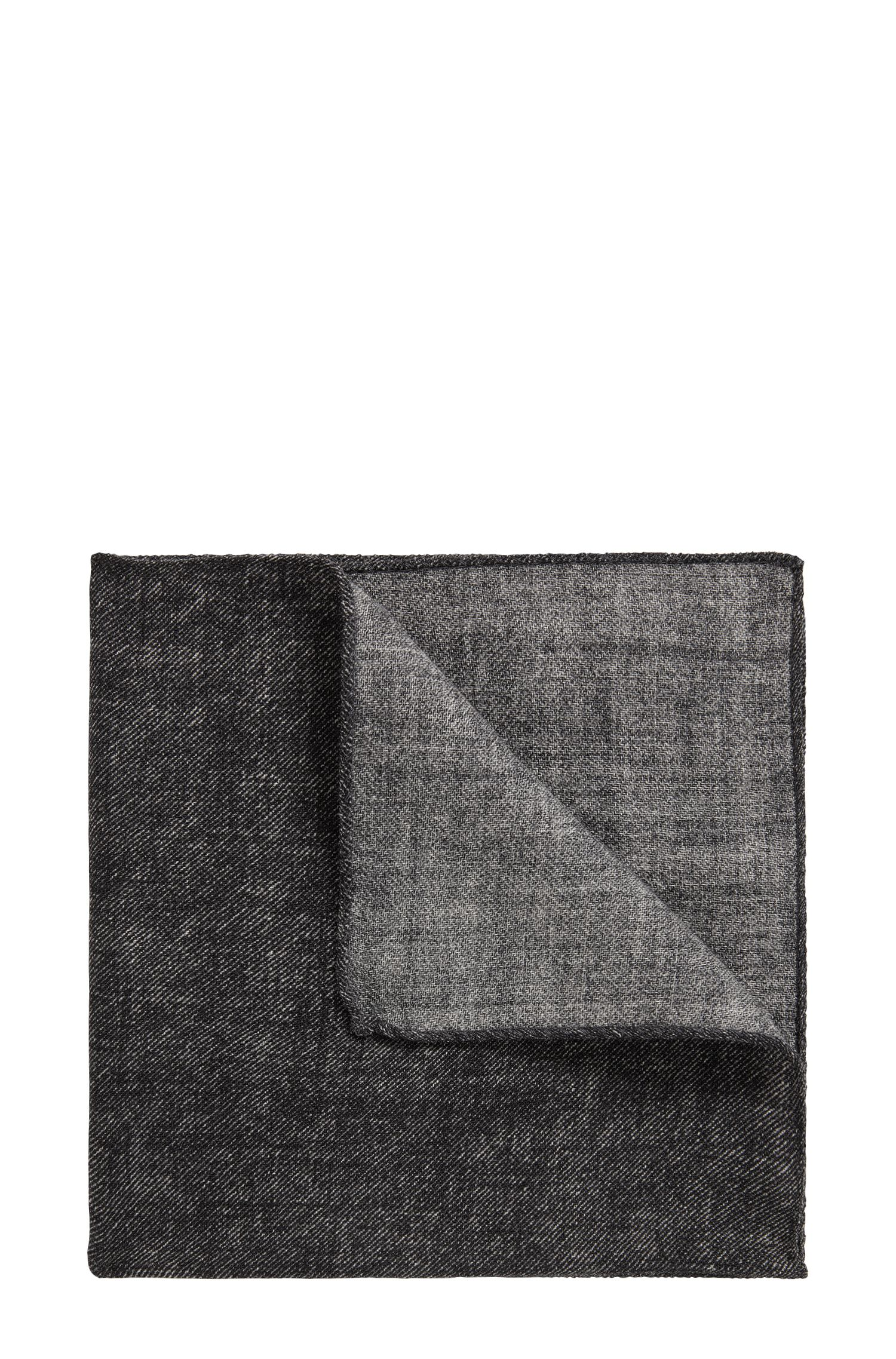 Marl pocket square in pure wool