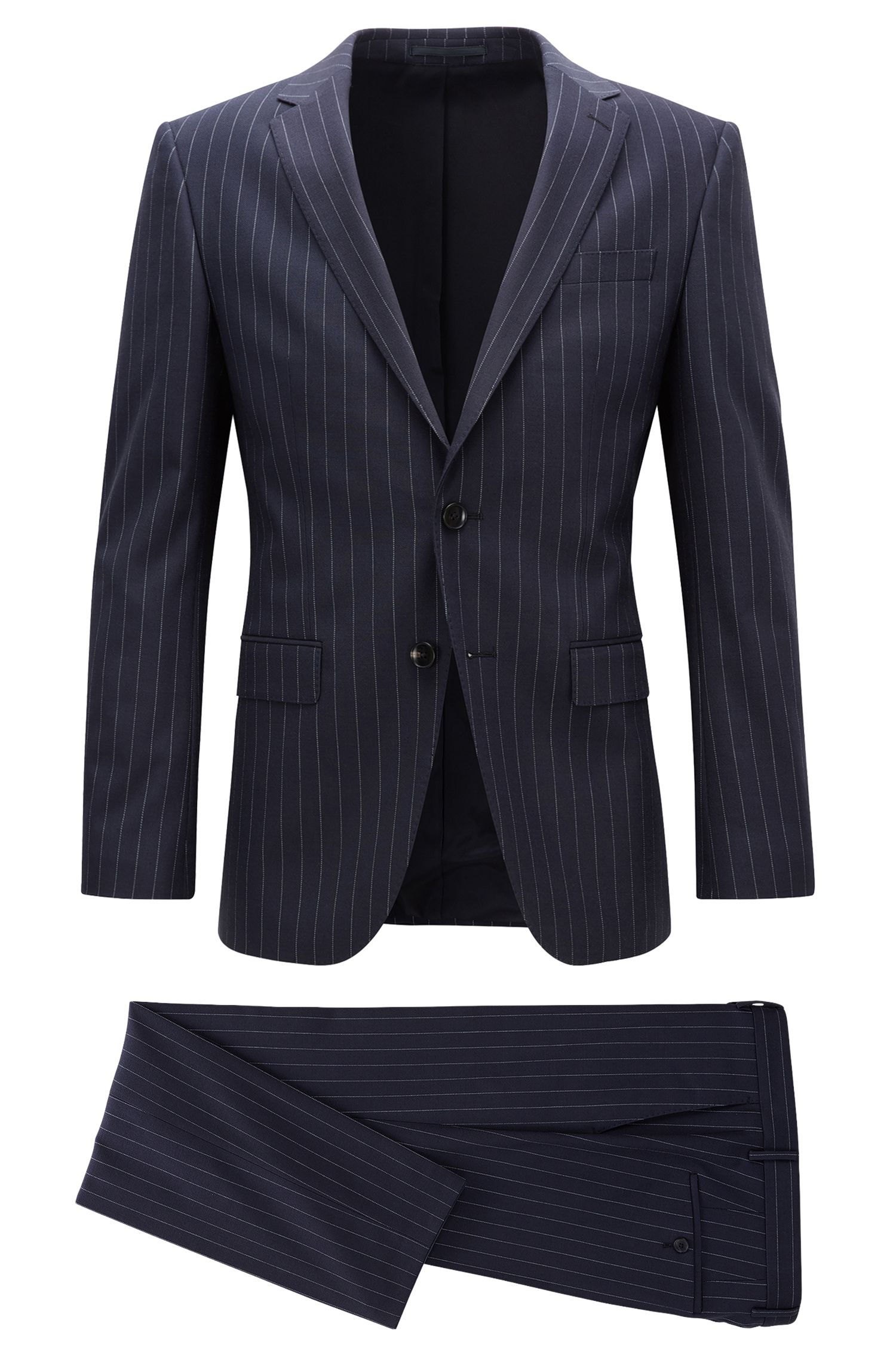 Slim-fit pinstripe suit in stretch fabric