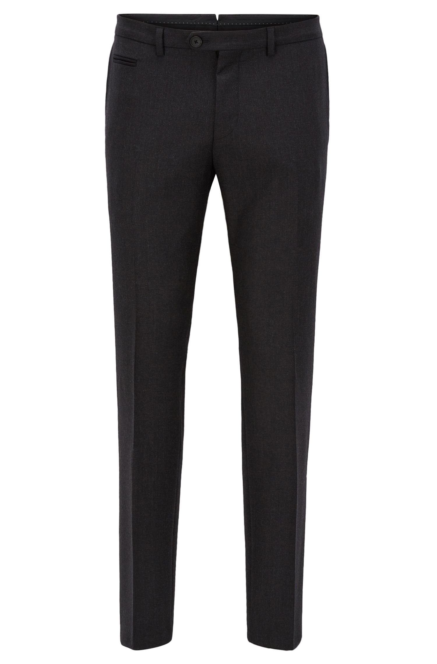 Pantaloni extra slim fit in lana vergine