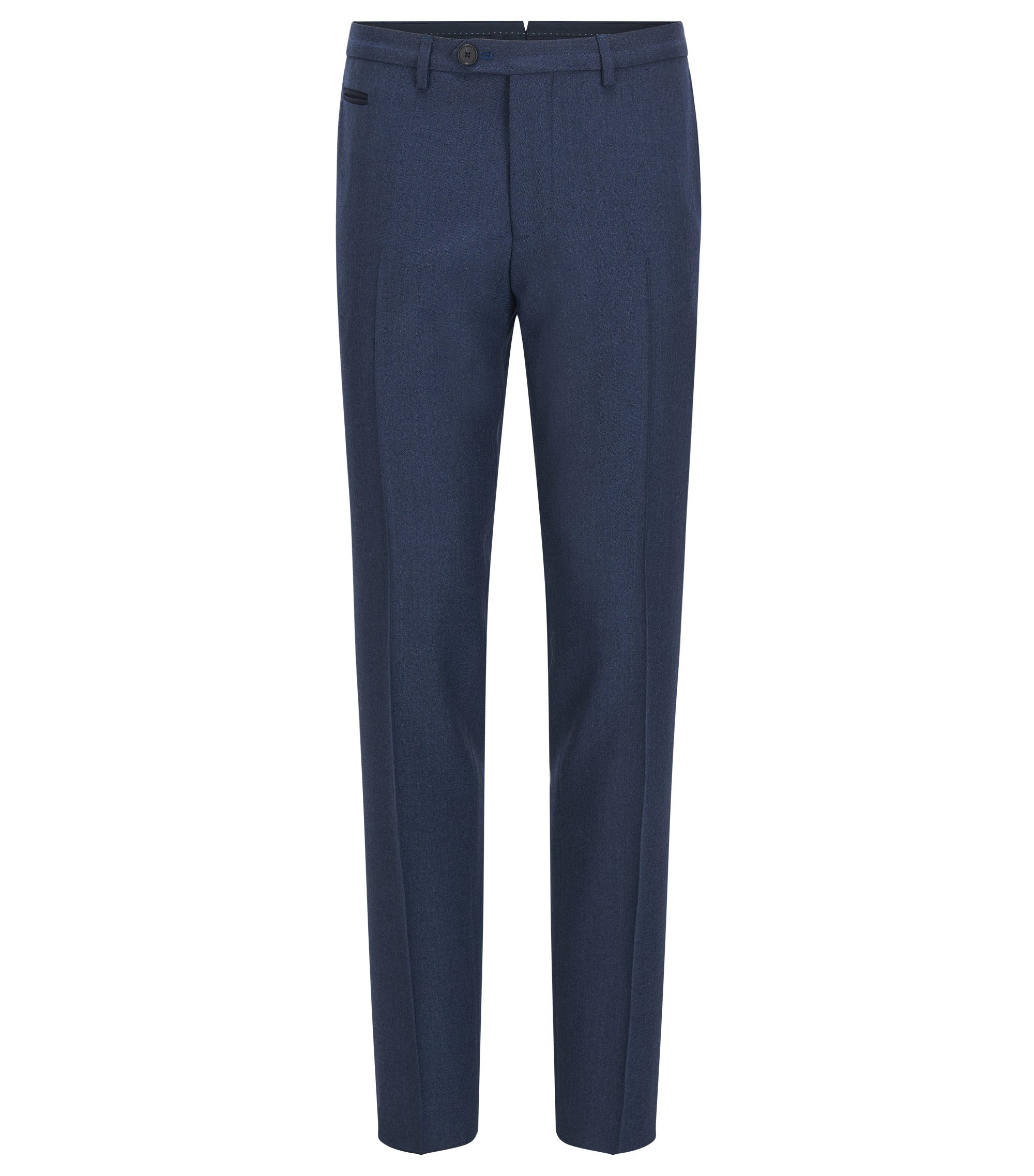 Pantaloni extra slim fit in lana vergine, Blu