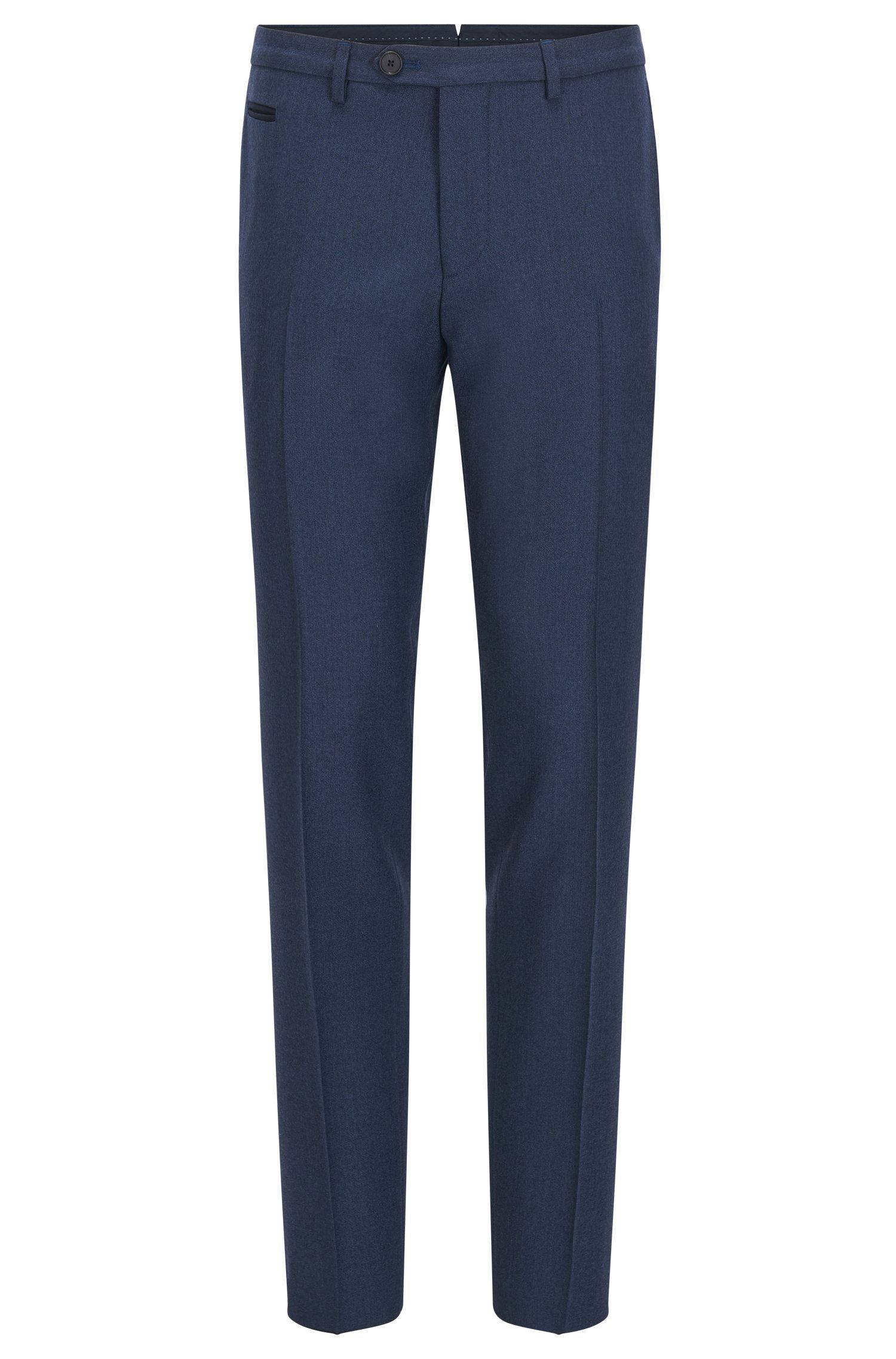 Extra slim-fit broek van scheerwol