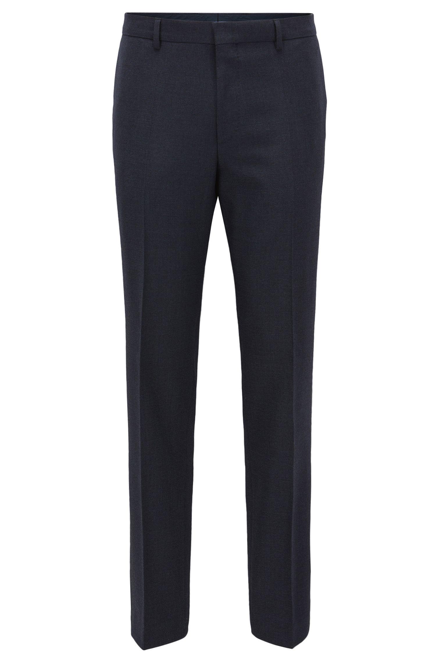Pantalones slim fit en mezcla de lana