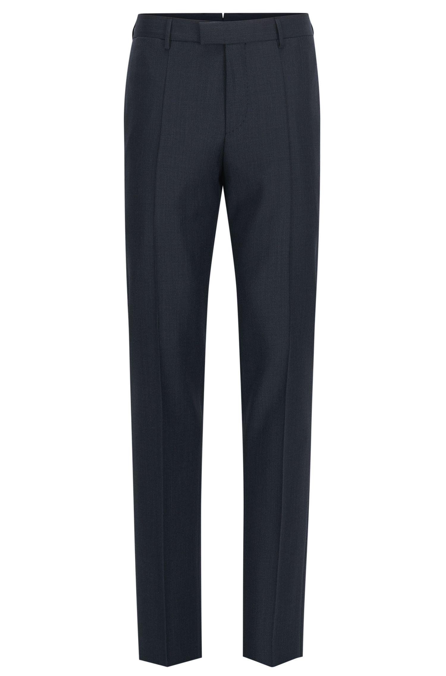 Pantaloni slim fit in lana vergine