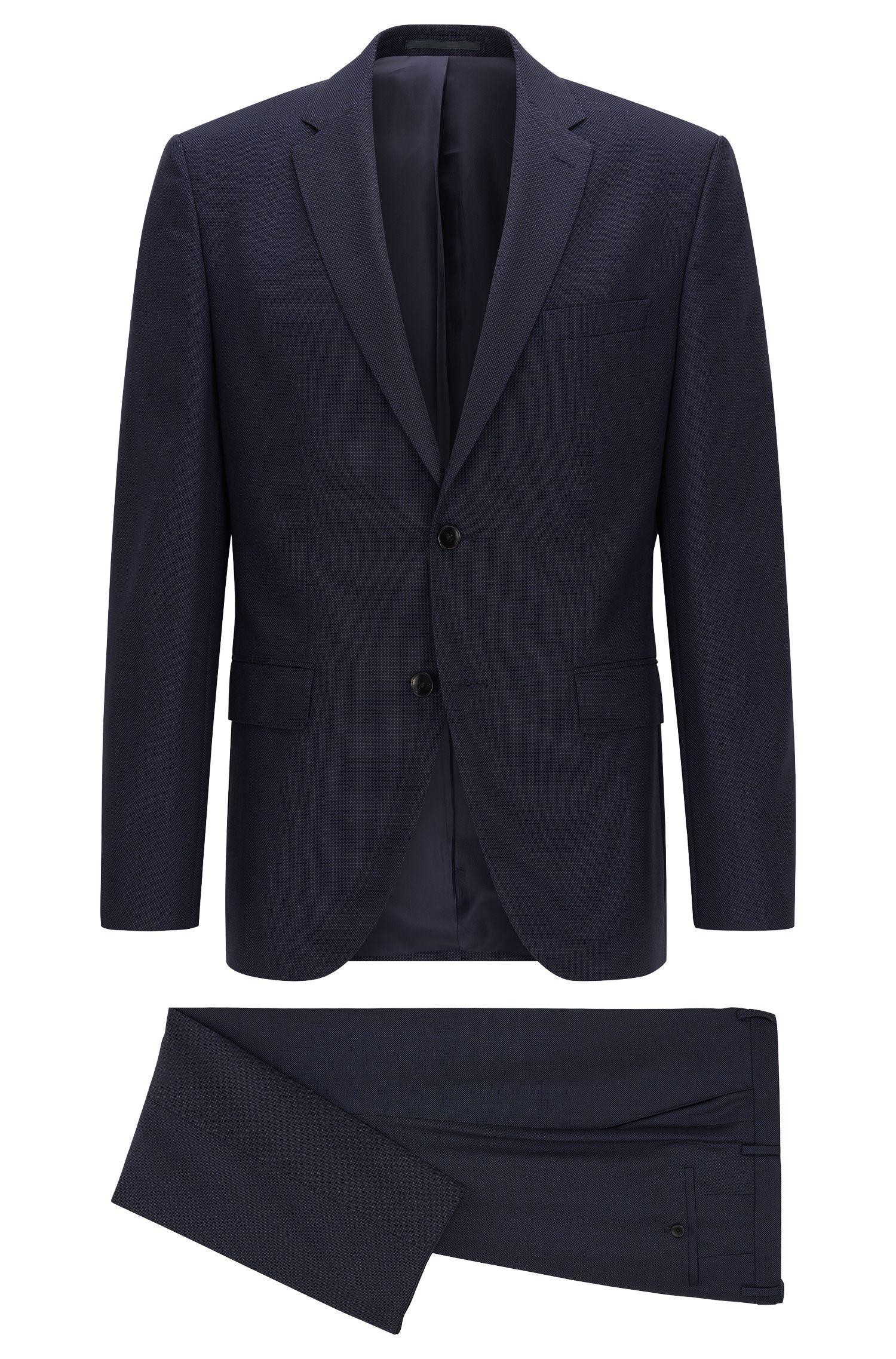 Regular-fit suit in virgin wool