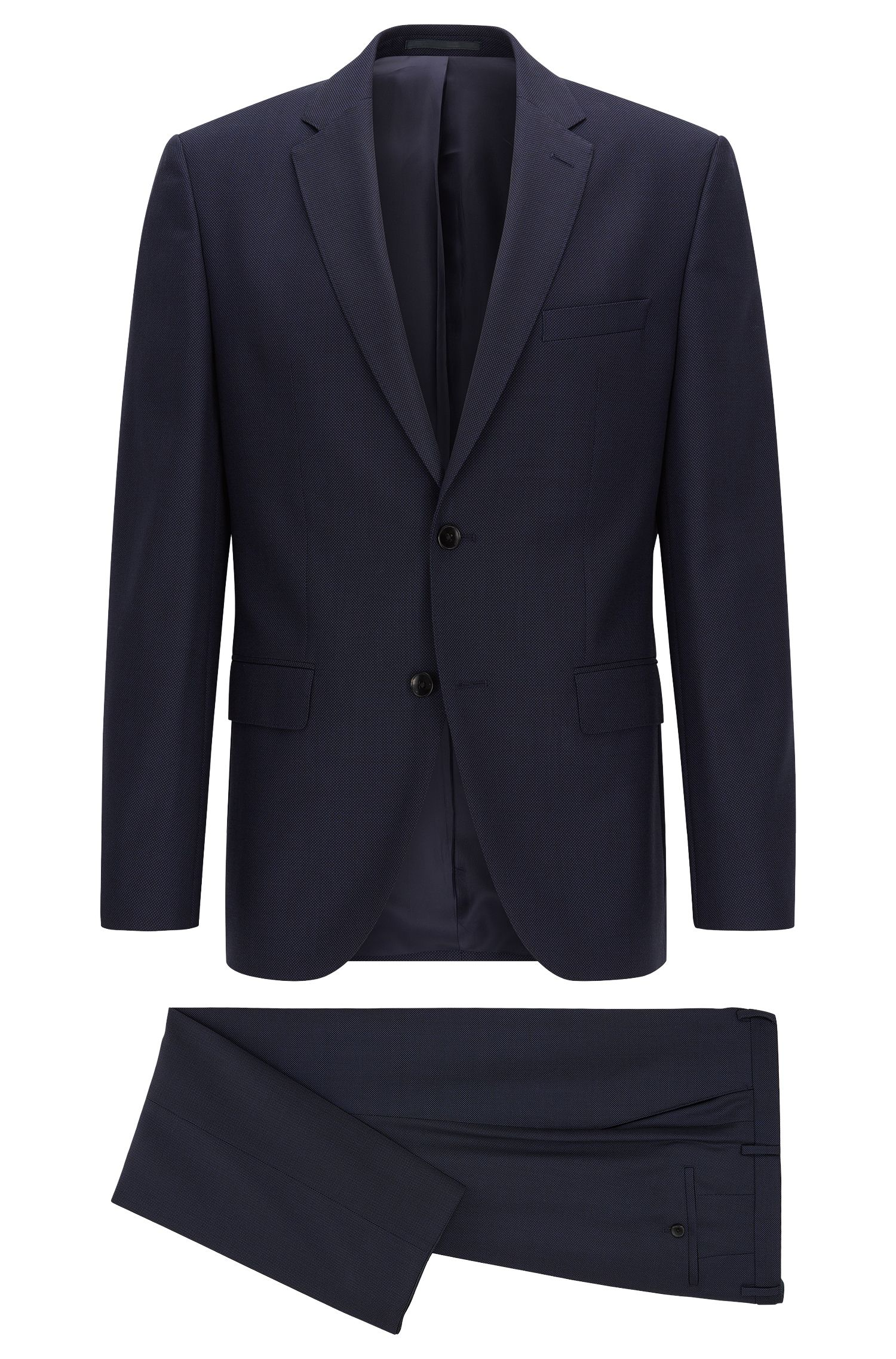 Regular-fit suit in virgin wool