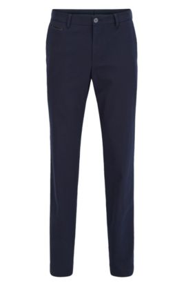 Slim-Fit Chino aus Stretch-Baumwolle, Dunkelblau