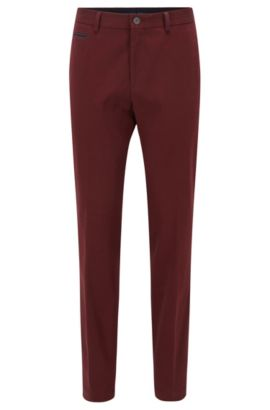 Slim-Fit Chino aus Stretch-Baumwolle, Dunkelrot