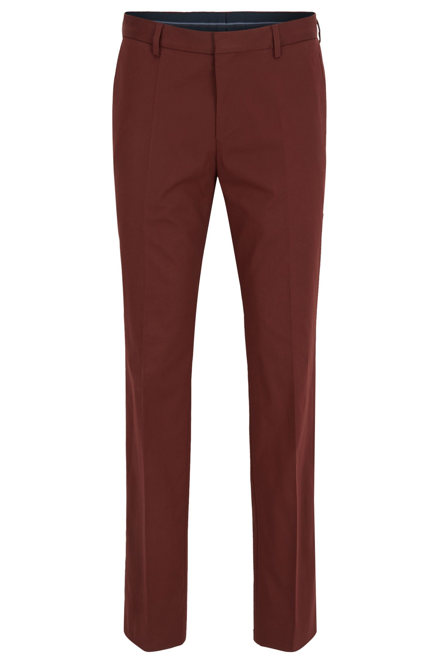 Slim-fit trousers in stretch cotton