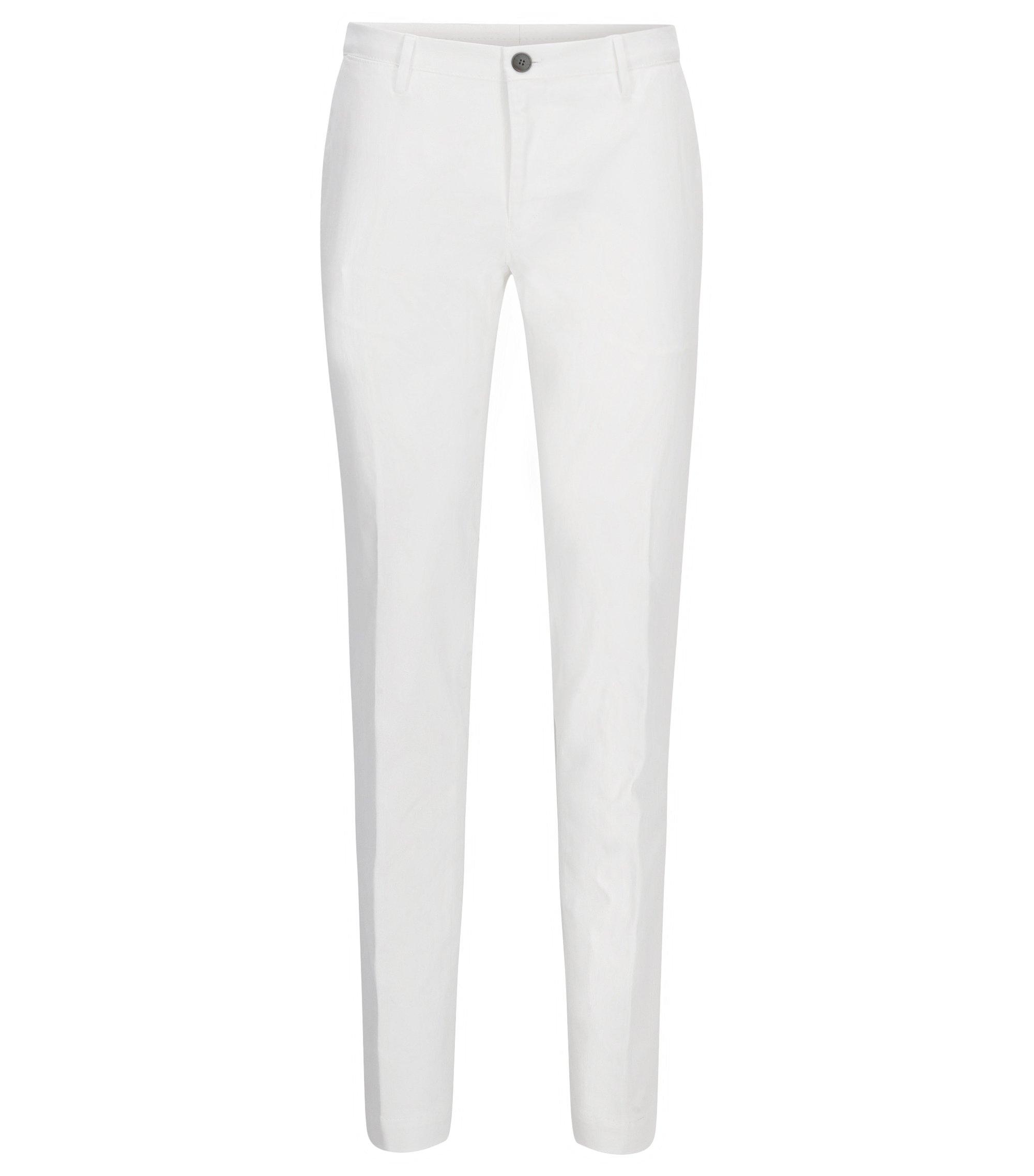 Slim-Fit Chino aus Stretch-Baumwolle, Weiß