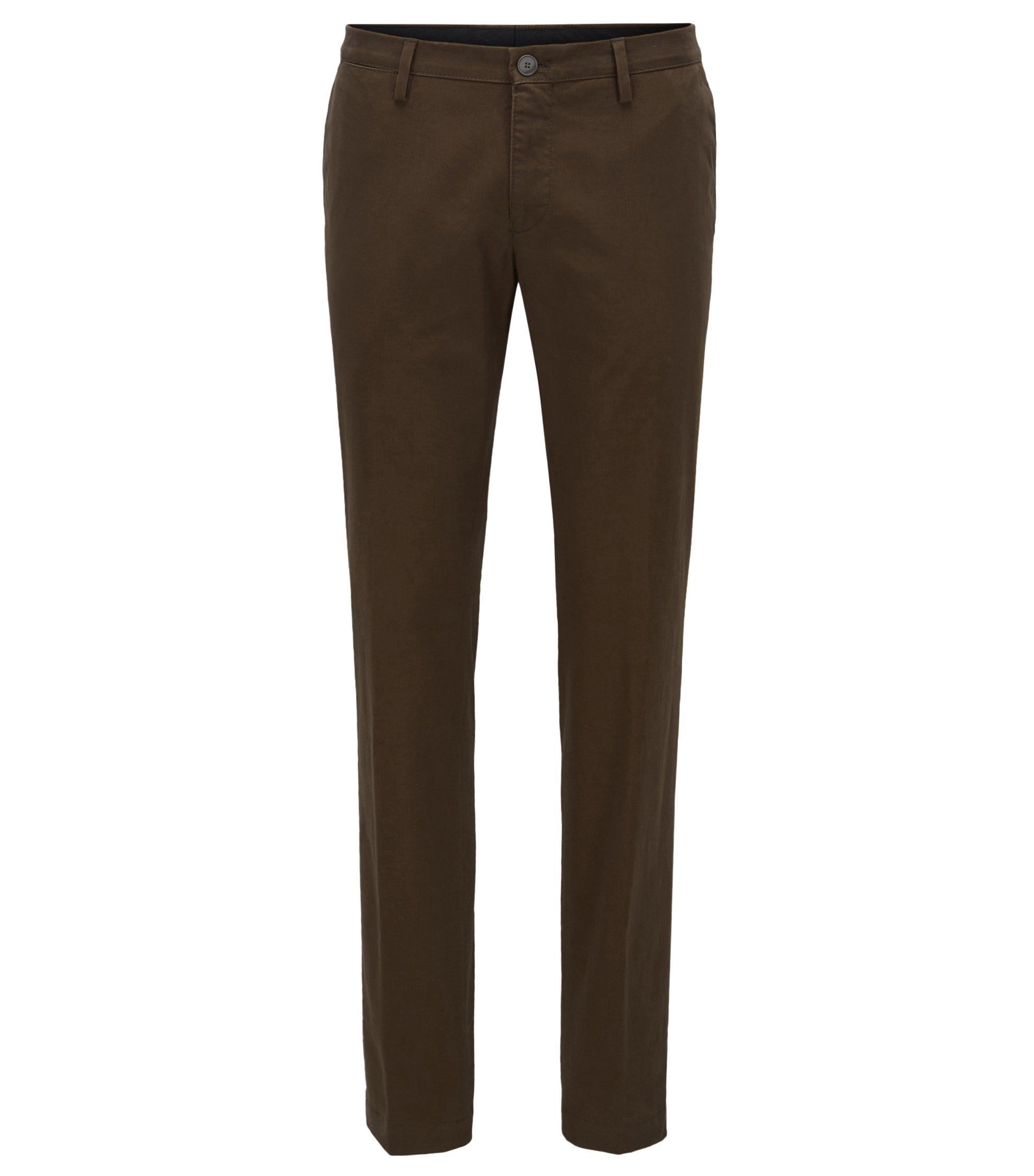 Slim-Fit Chino aus Stretch-Baumwolle, Dunkelgrün