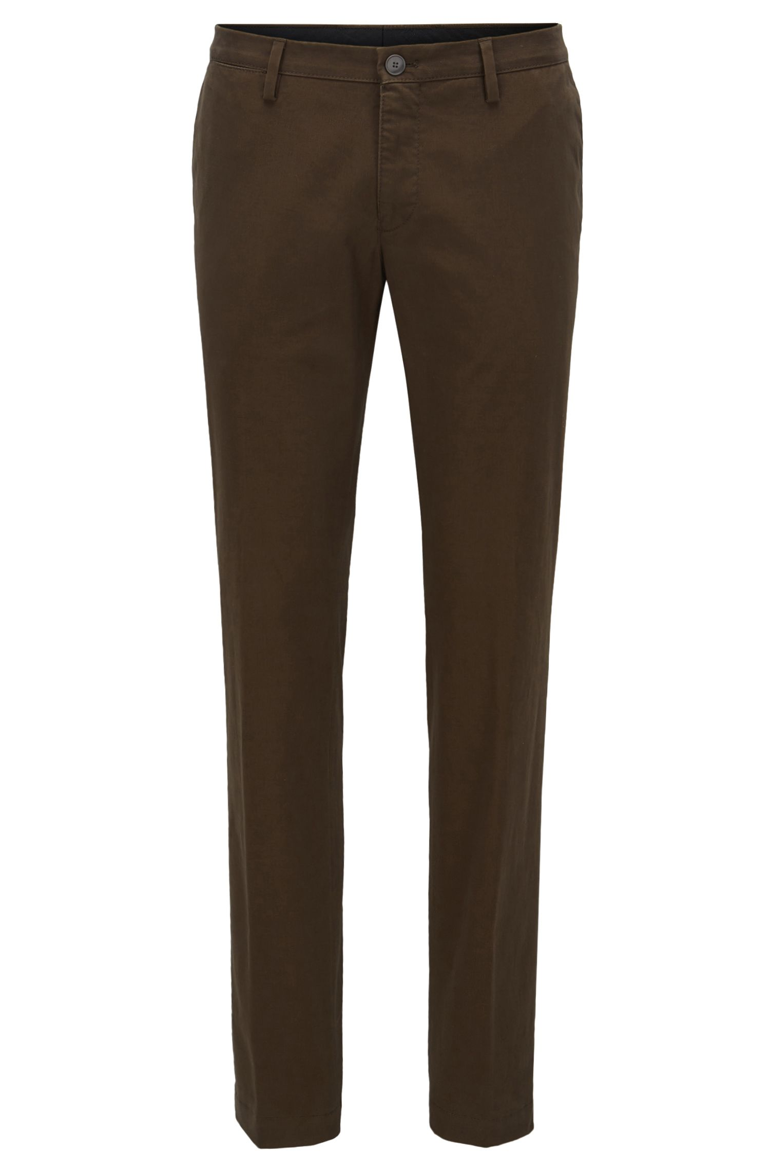 Slim-fit chino van stretchkatoen