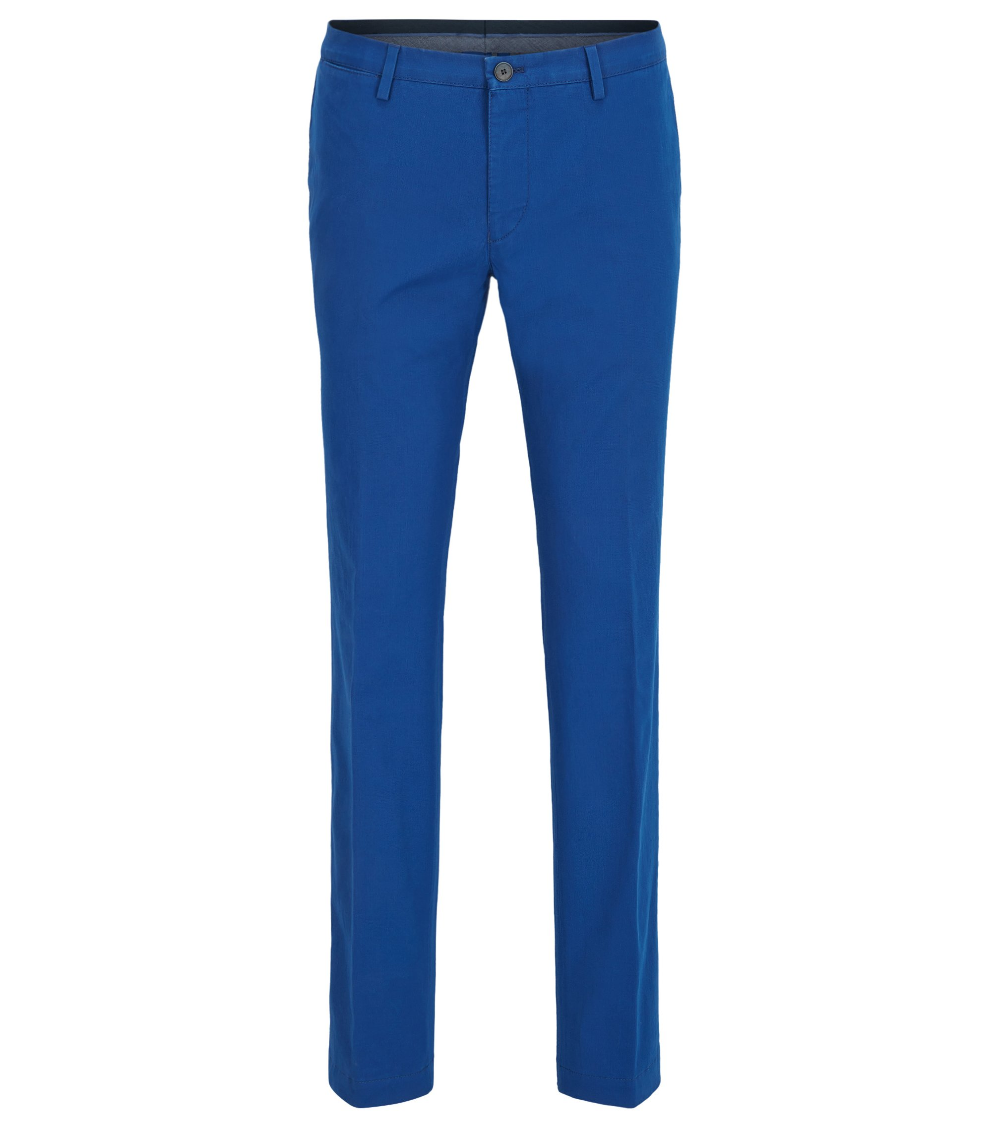 Slim-Fit Chino aus Stretch-Baumwolle, Blau