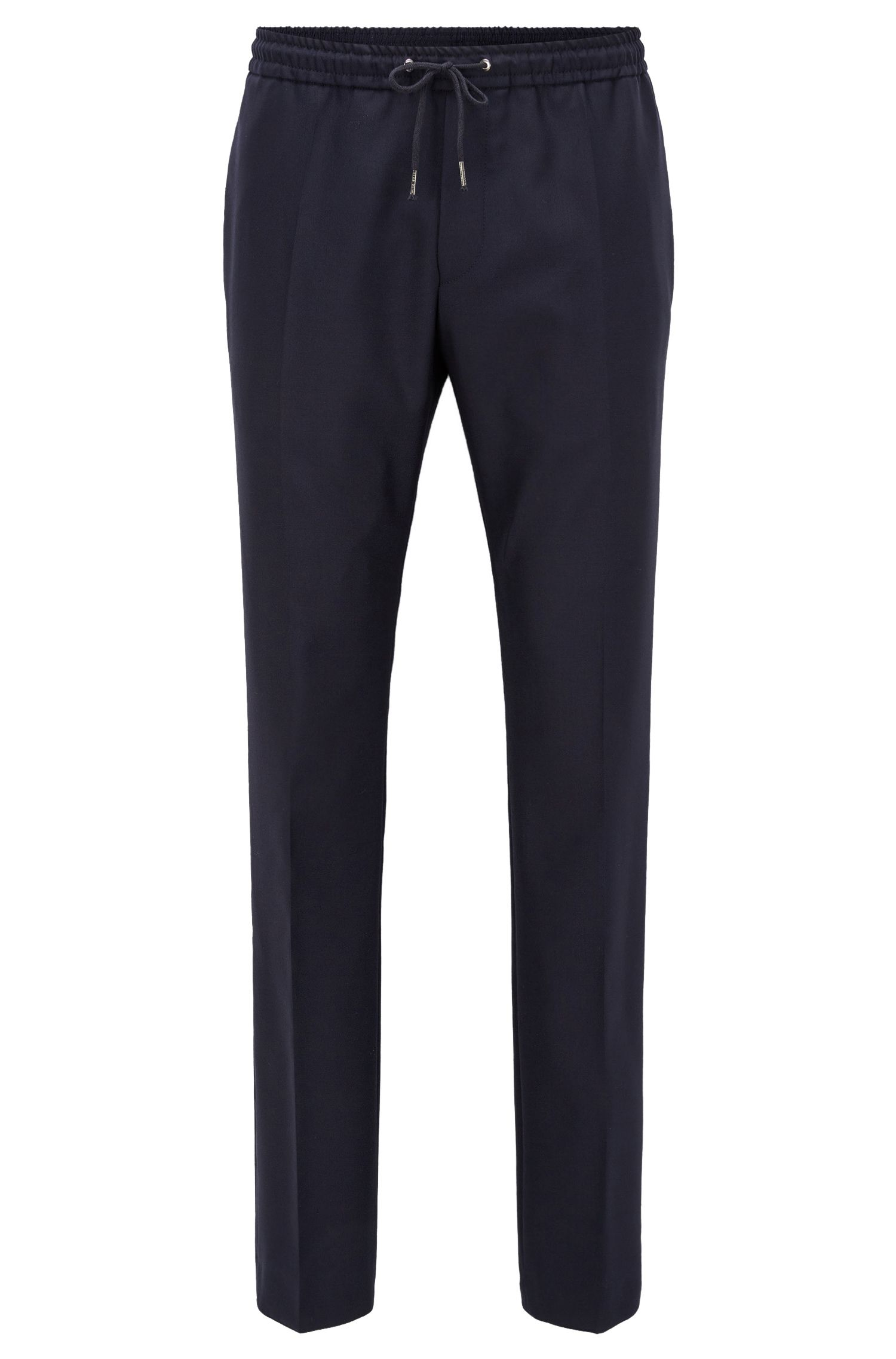 Relaxed-fit drawstring trousers in virgin wool