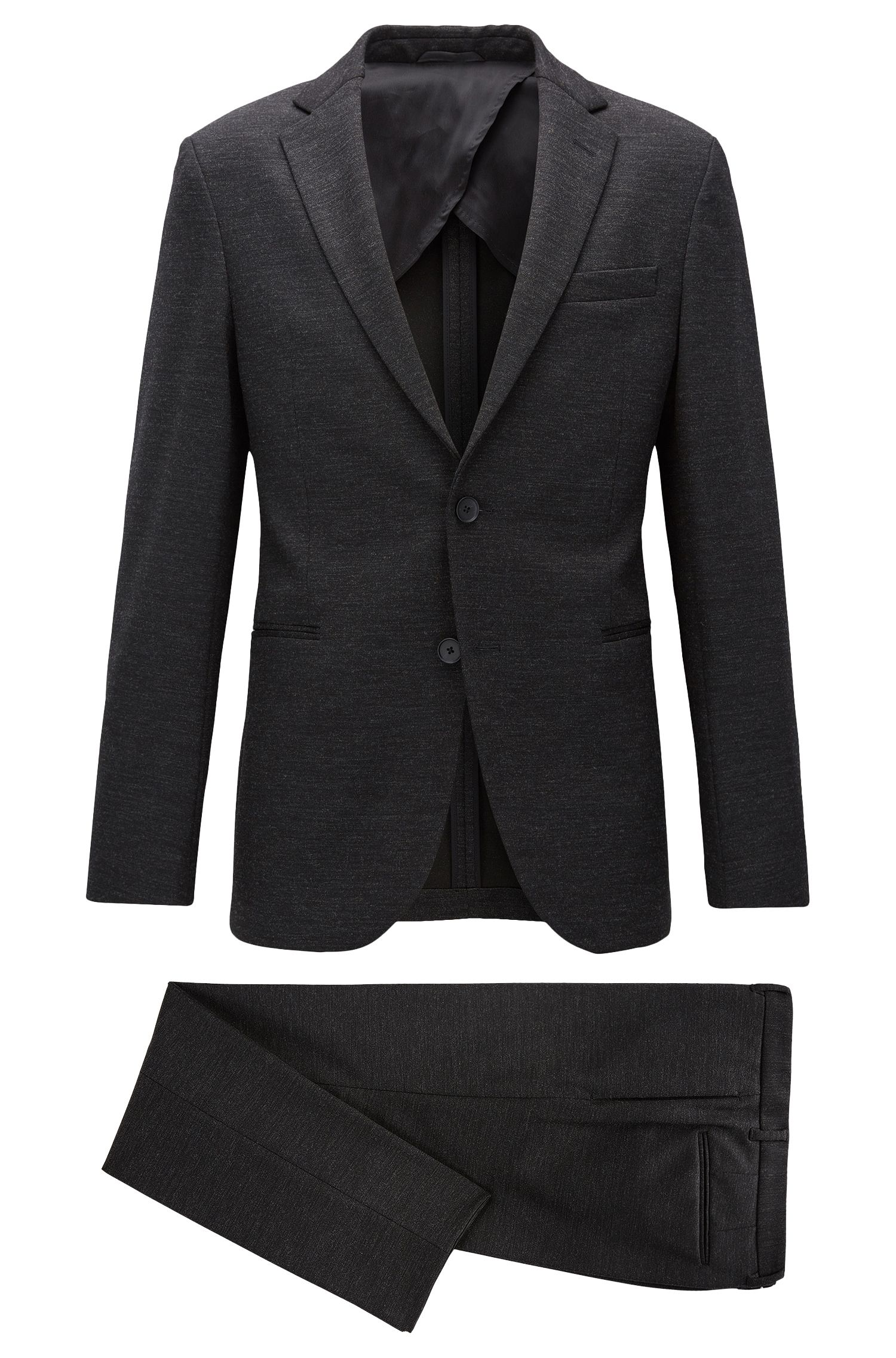 Slim-fit suit in stretch jersey