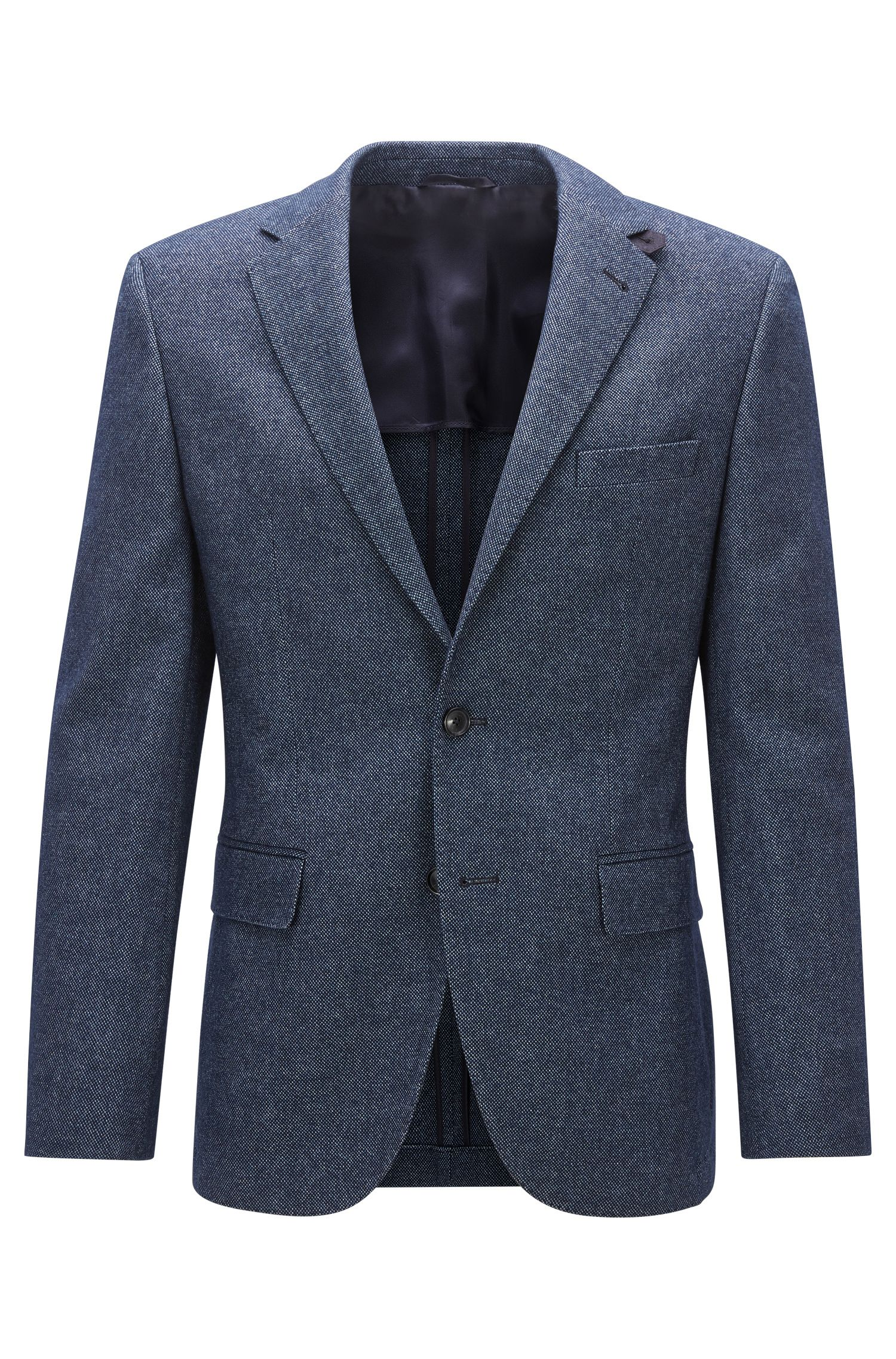 Regular-fit jacket in patterned fabric