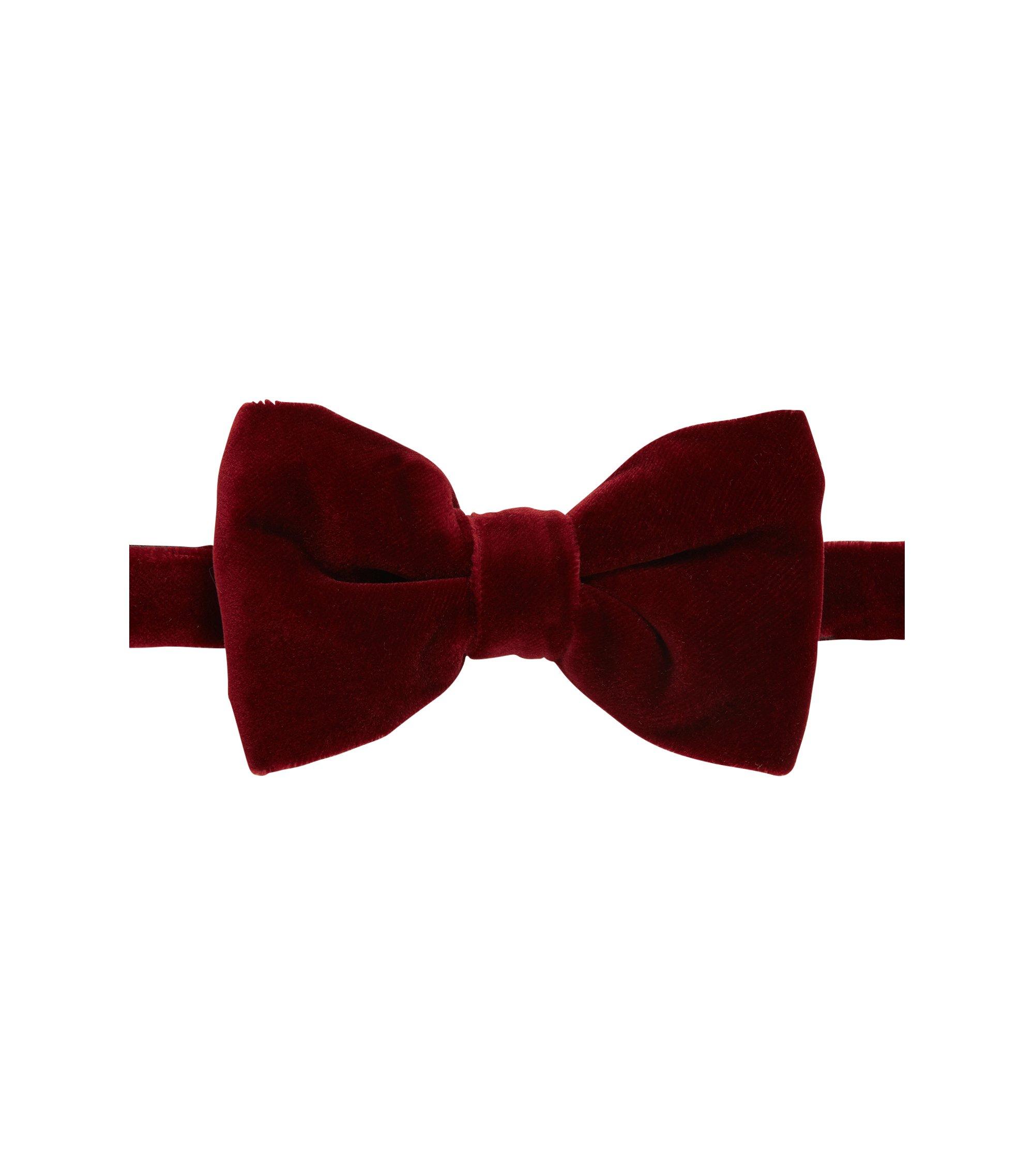Velvet cotton bow tie, Dark Red