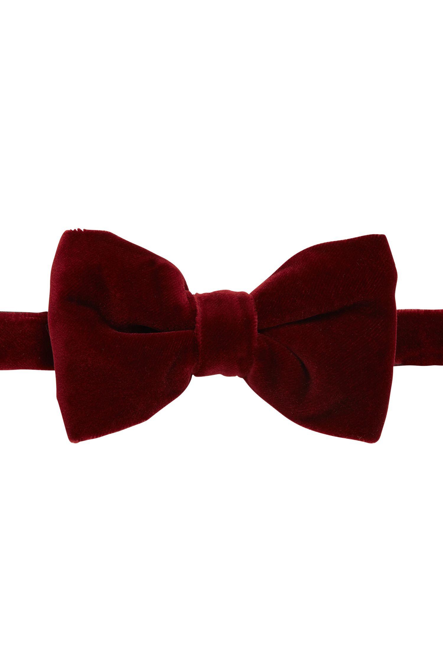 Velvet cotton bow tie