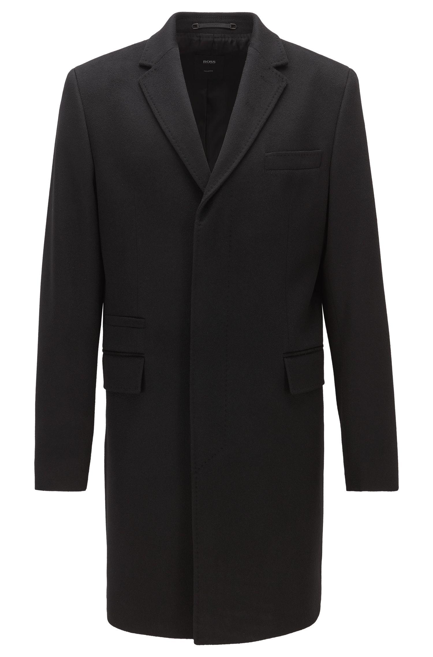 Regular-fit mantel van kasjmier