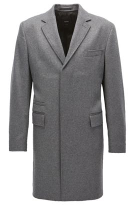 Pardessus en cachemire Regular Fit, Gris