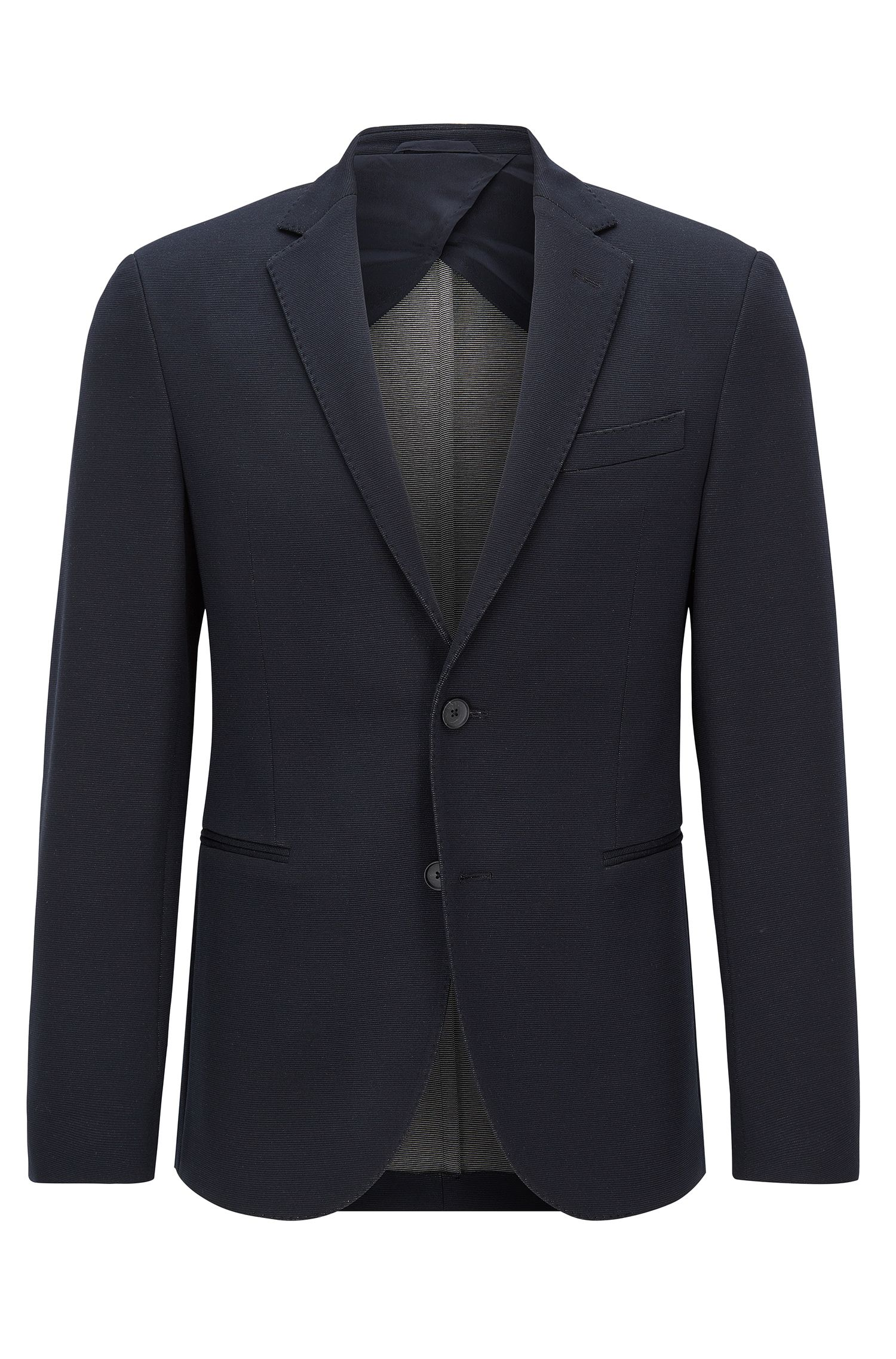 Slim-fit jersey suit jacket
