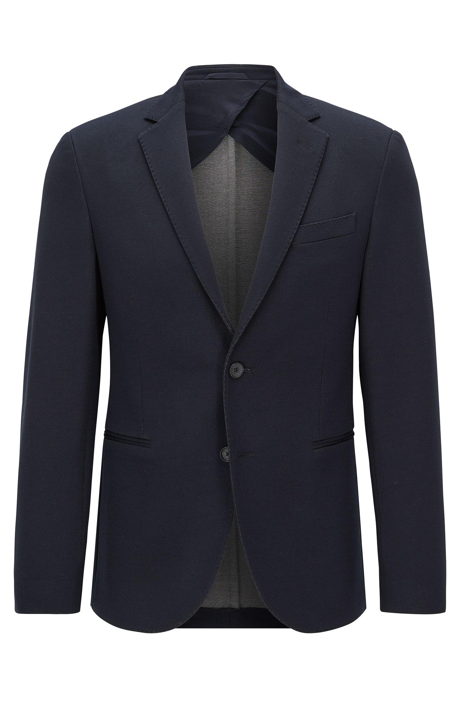 Slim-fit jersey suit jacket