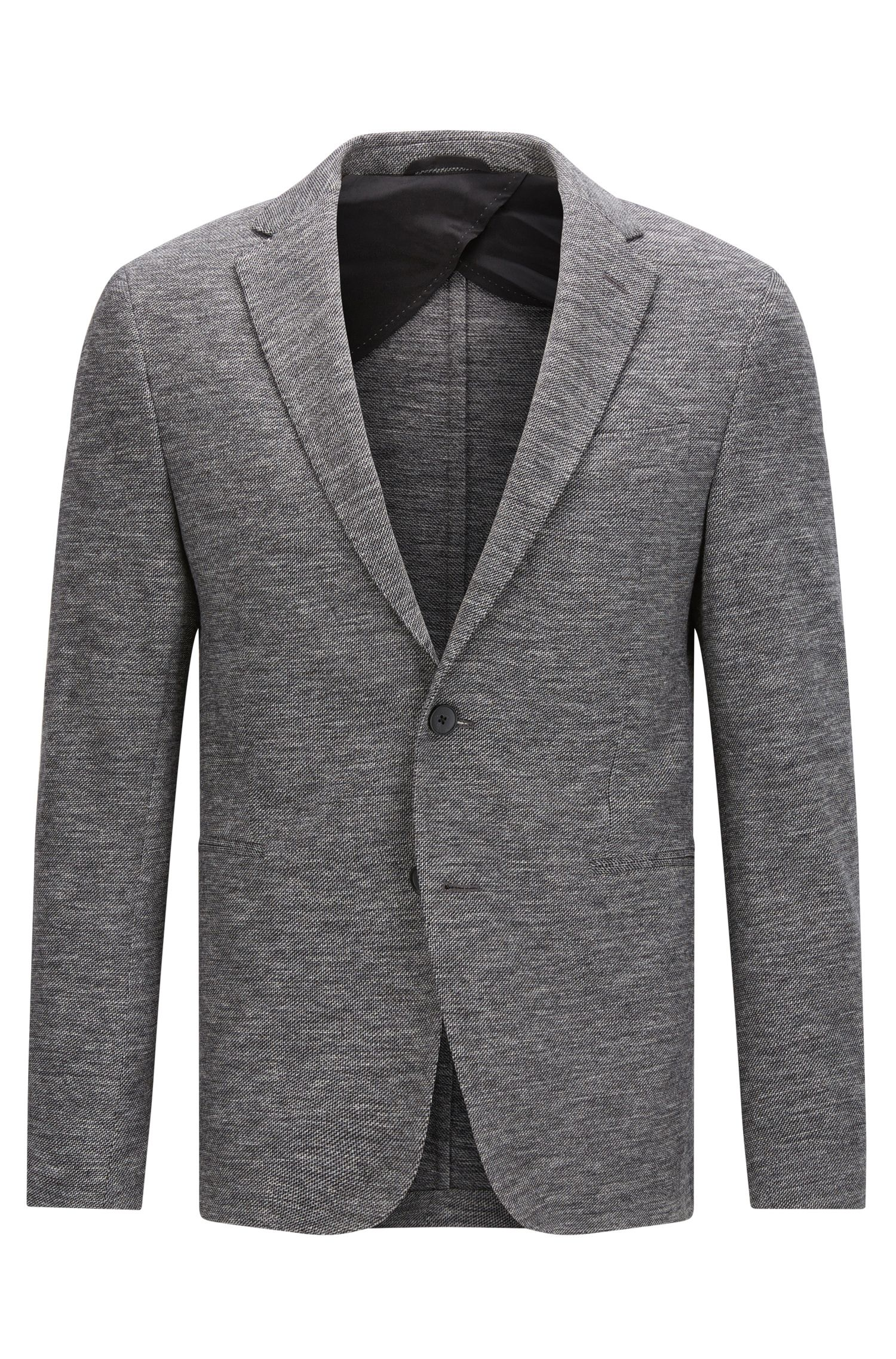 Slim-fit jacket in stretch tailoring jersey