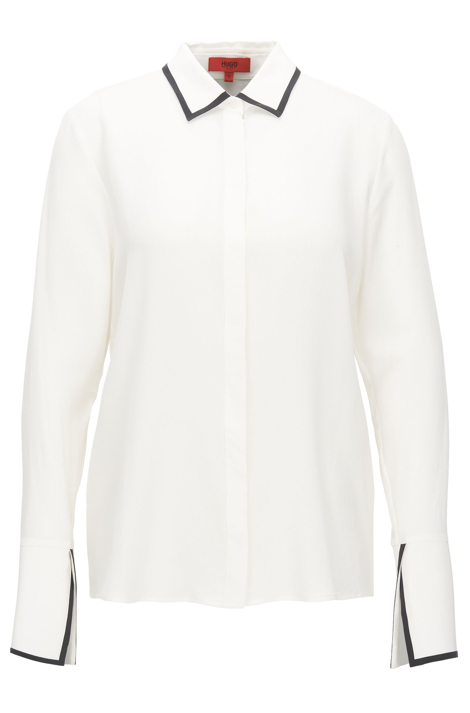 Relaxed-fit shirt in pure silk