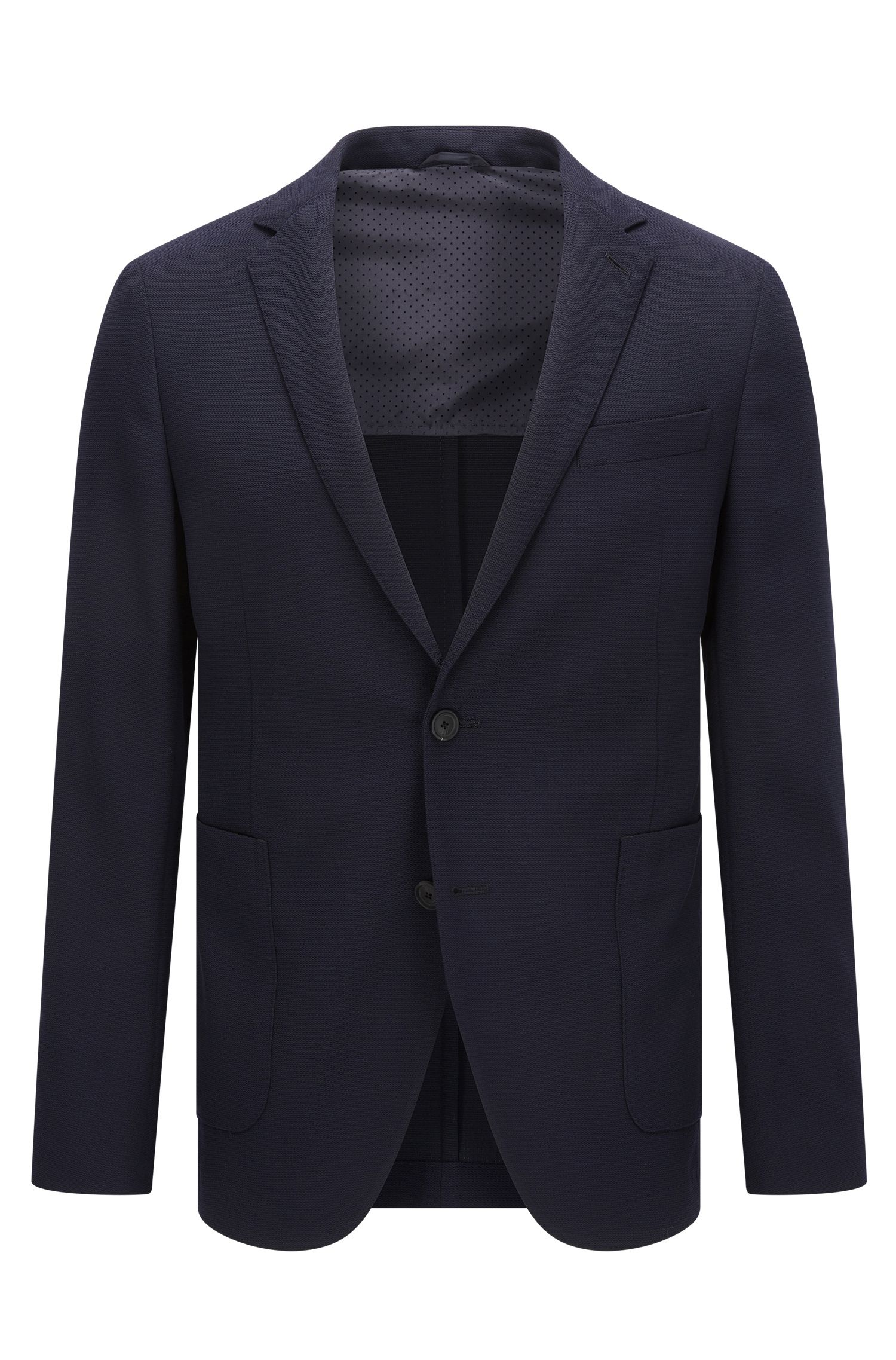 Slim-fit travel jacket in a wool blend