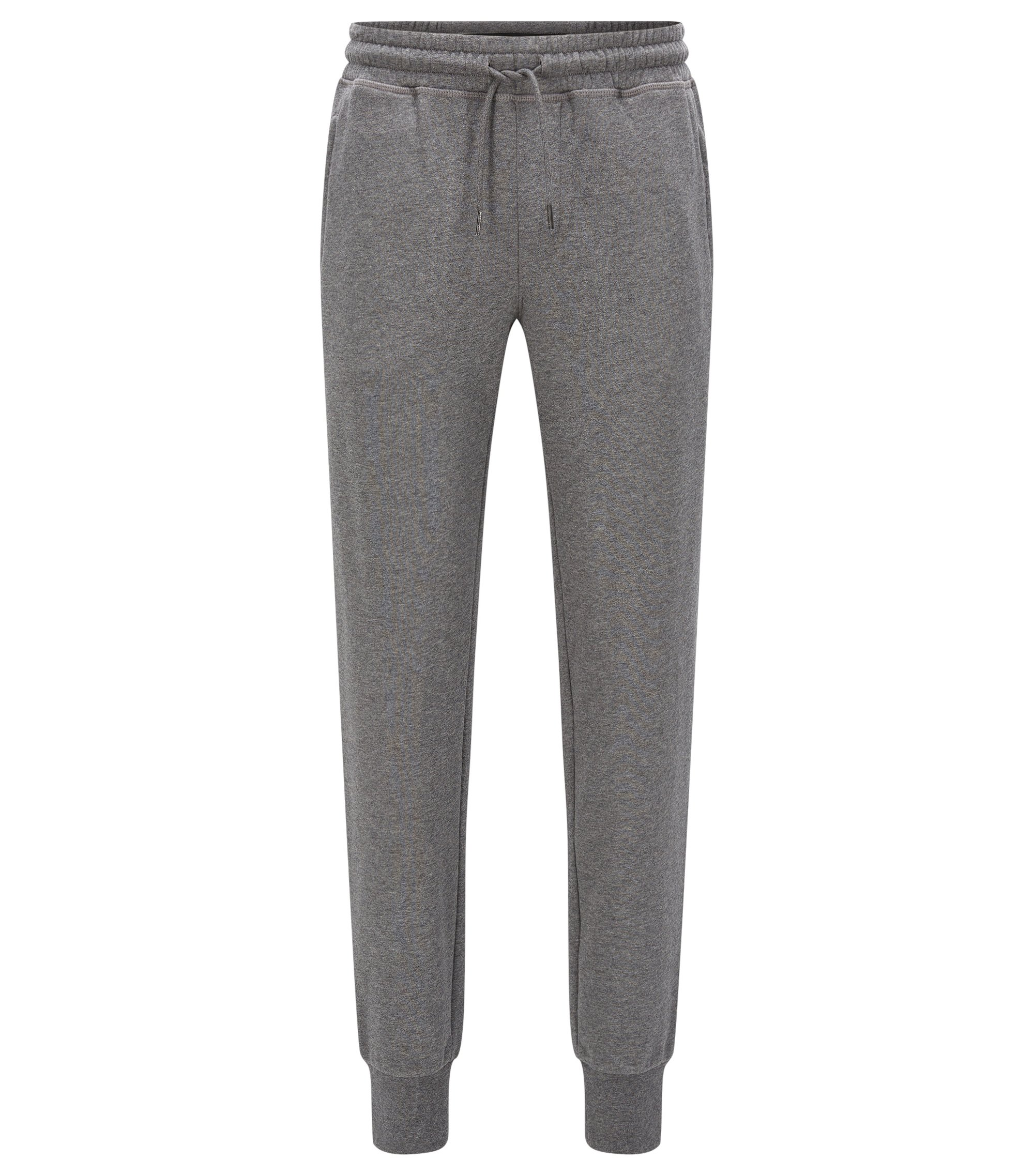 Regular-fit trousers in cotton terry, Grey