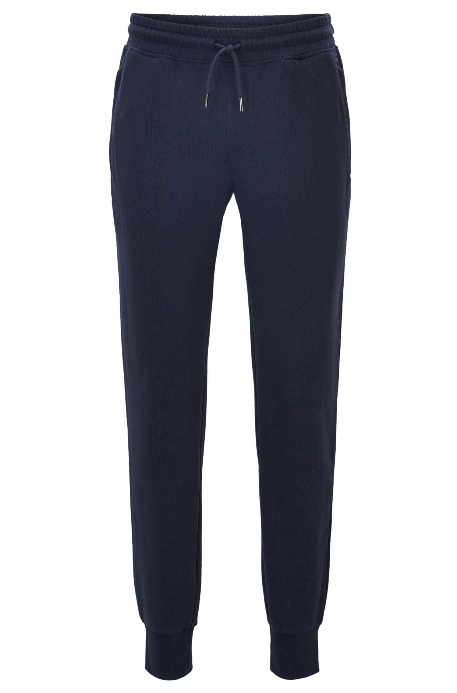 Pantaloni regular fit in cotone terry