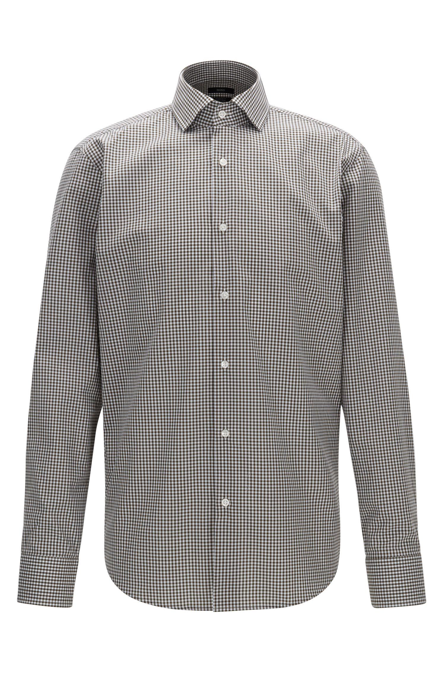 Chemise Regular Fit en coton à motif vichy facile à repasser