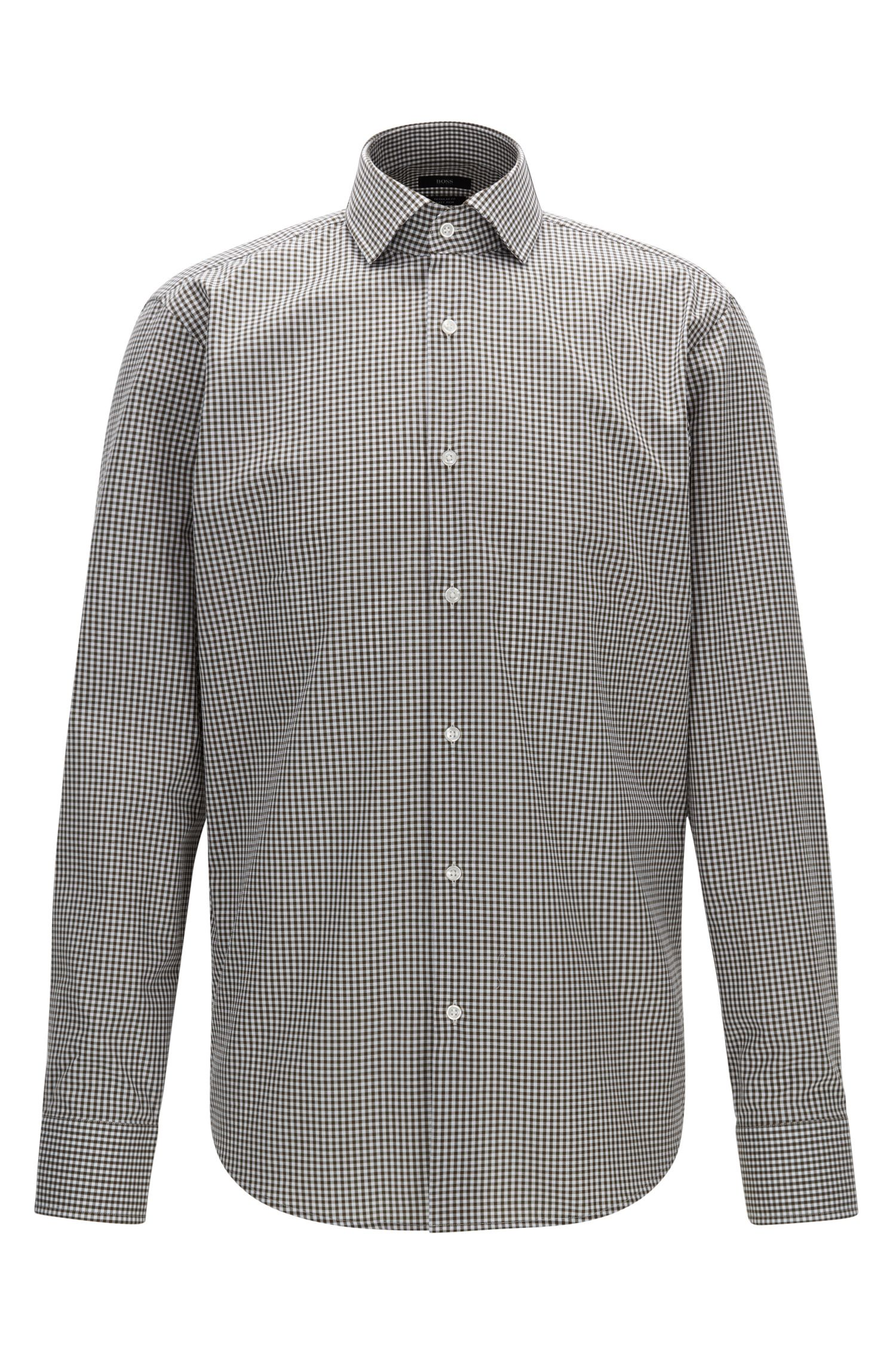Camicia regular fit in cotone a quadri Vichy facile da stirare