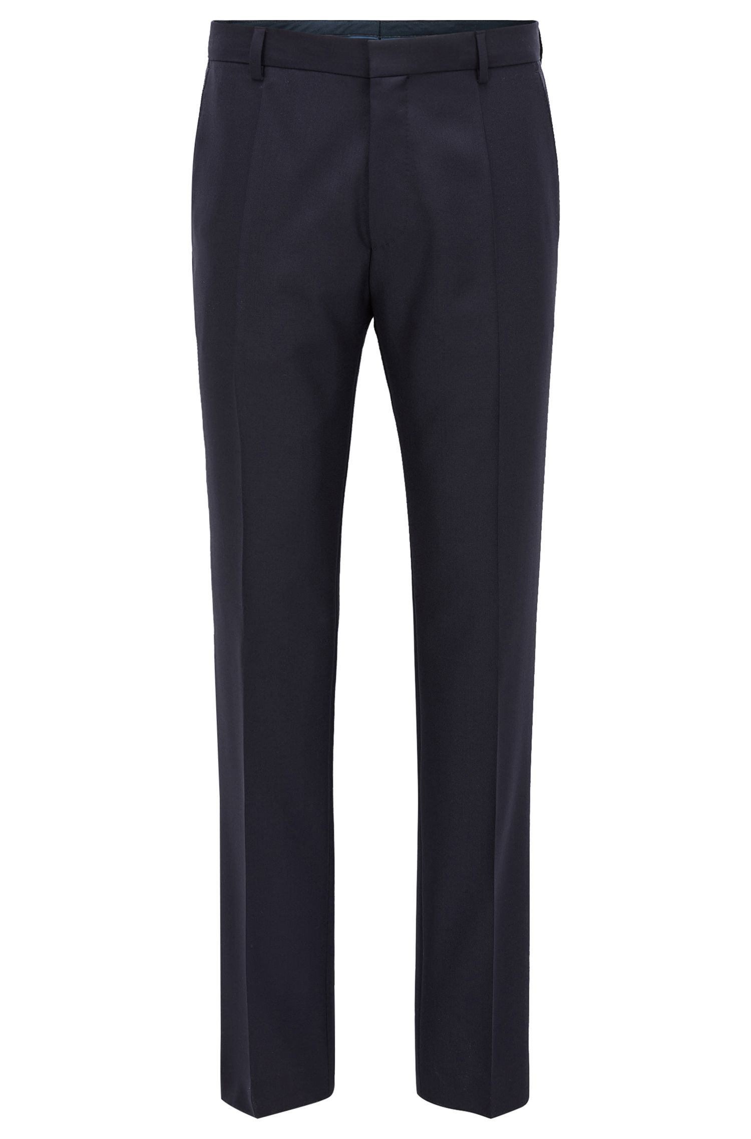 Pantalon Slim Fit en laine de la collection Travel Line avec détails novateurs