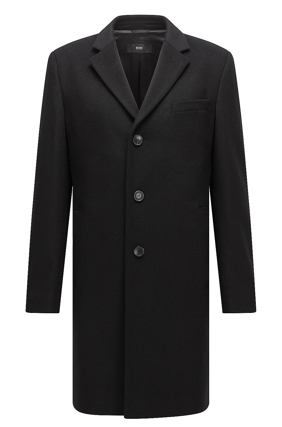 wool blend coat in a slim fit. Black Bedroom Furniture Sets. Home Design Ideas