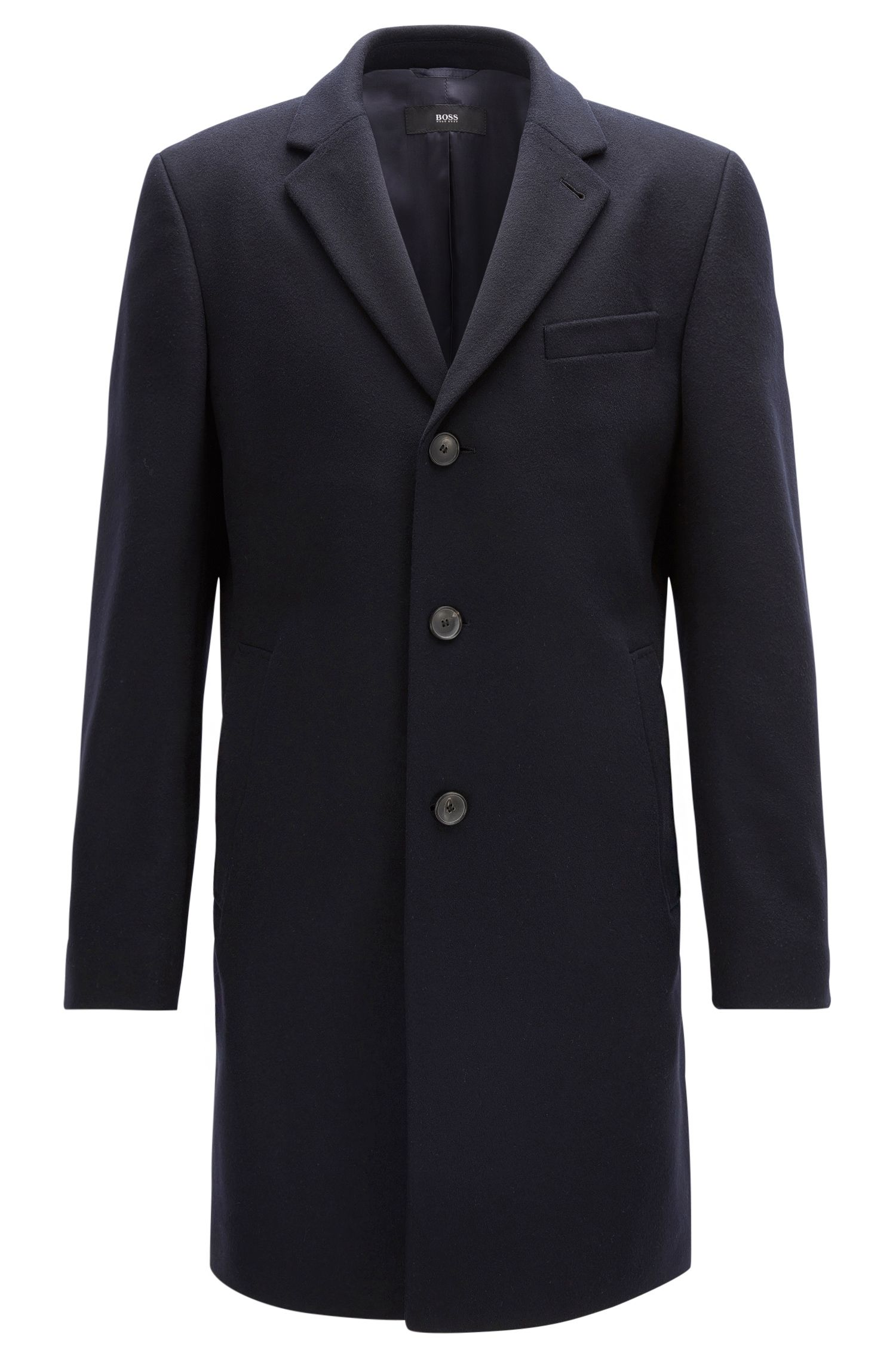 Wool-blend coat in a slim fit