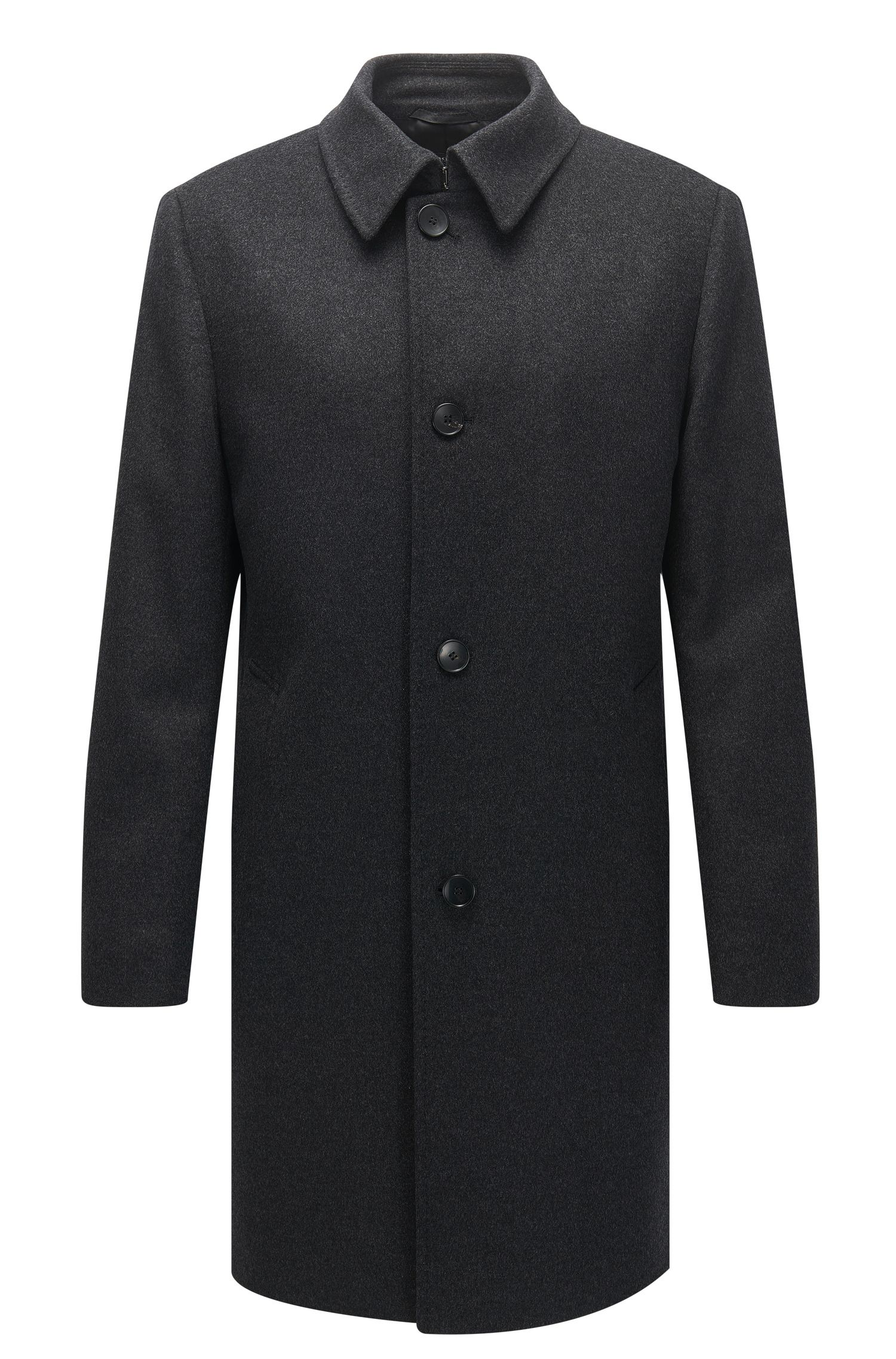 Wool-blend coat in a regular fit