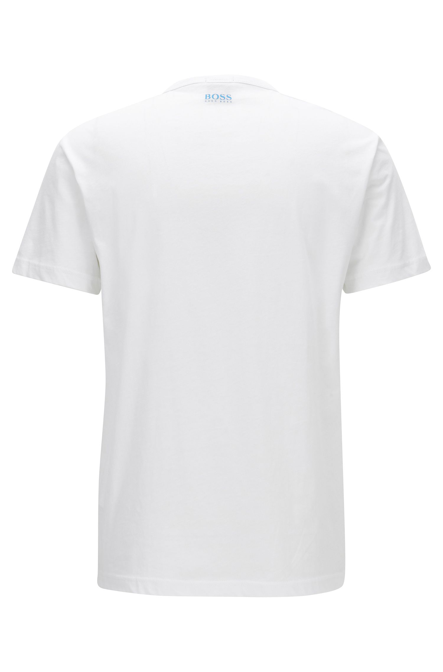 T-shirt regular fit in cotone con logo