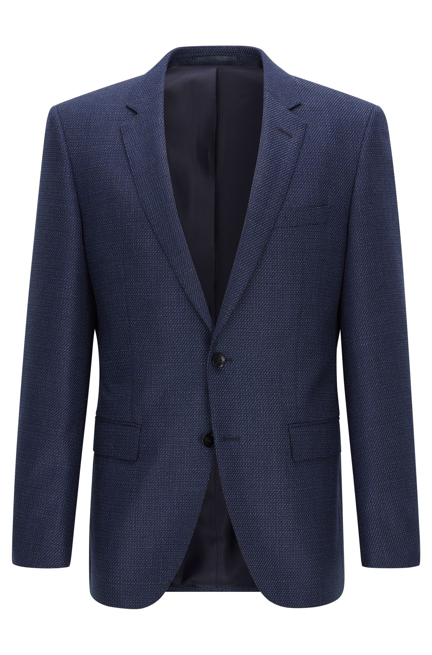 Slim-fit jacket in wool and cashmere