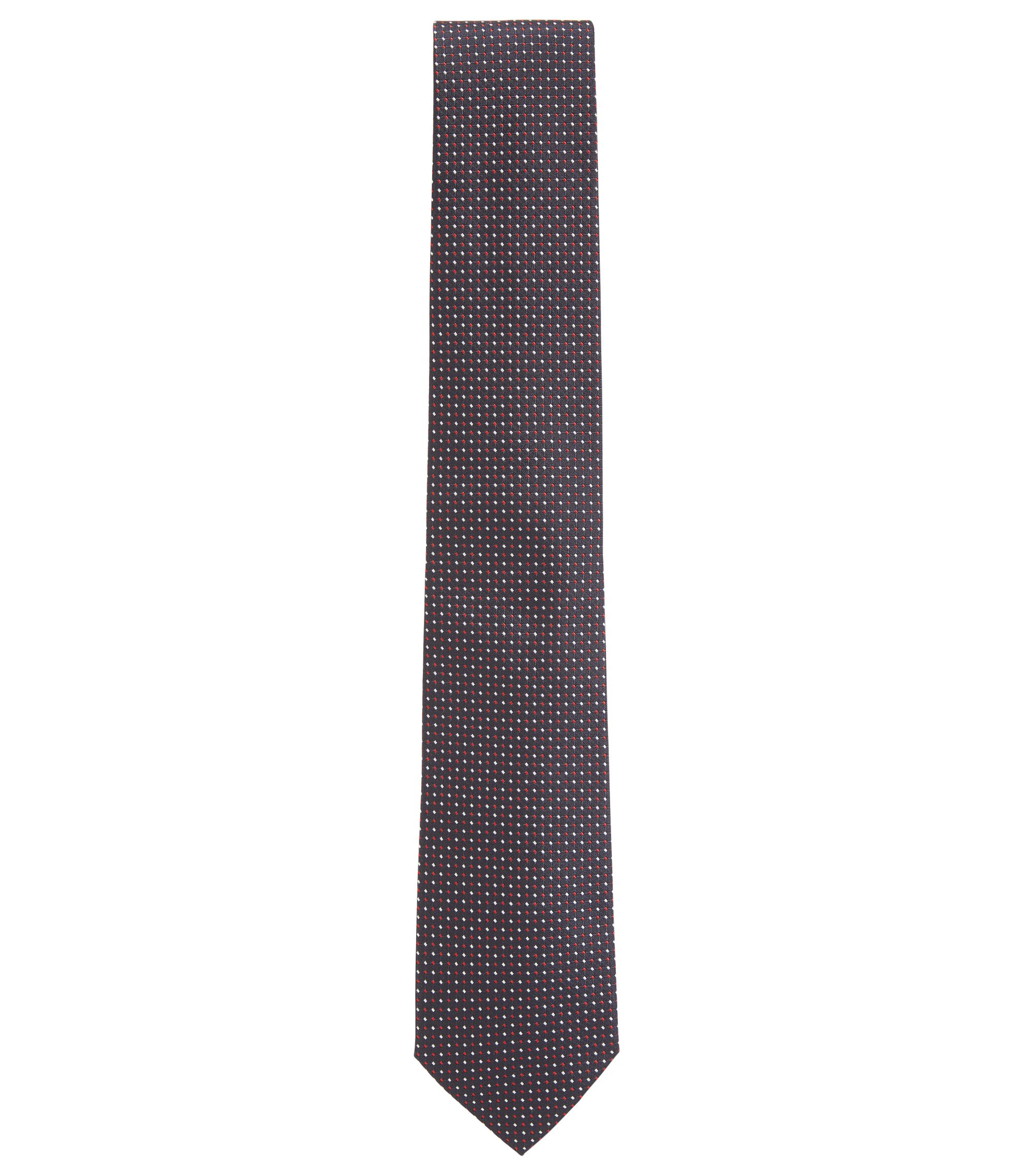 Gemusterte Krawatte aus Seiden-Jacquard, Rot
