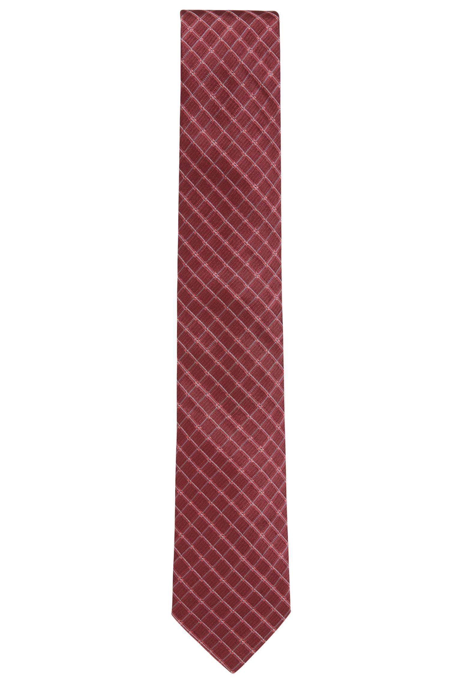 Diagonaal geruite stropdas van zijdejacquard