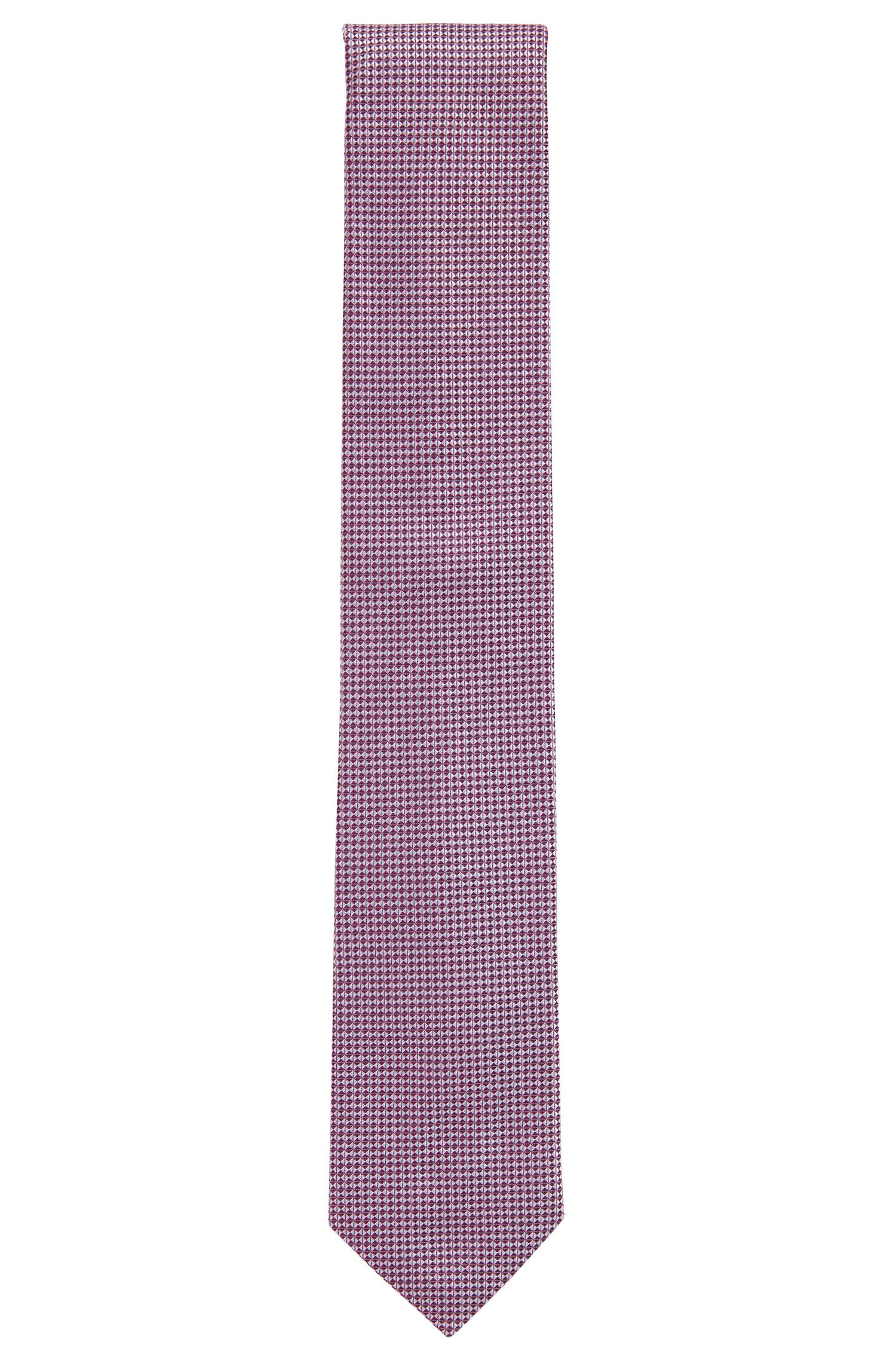 Jacquard tie in patterned pure silk