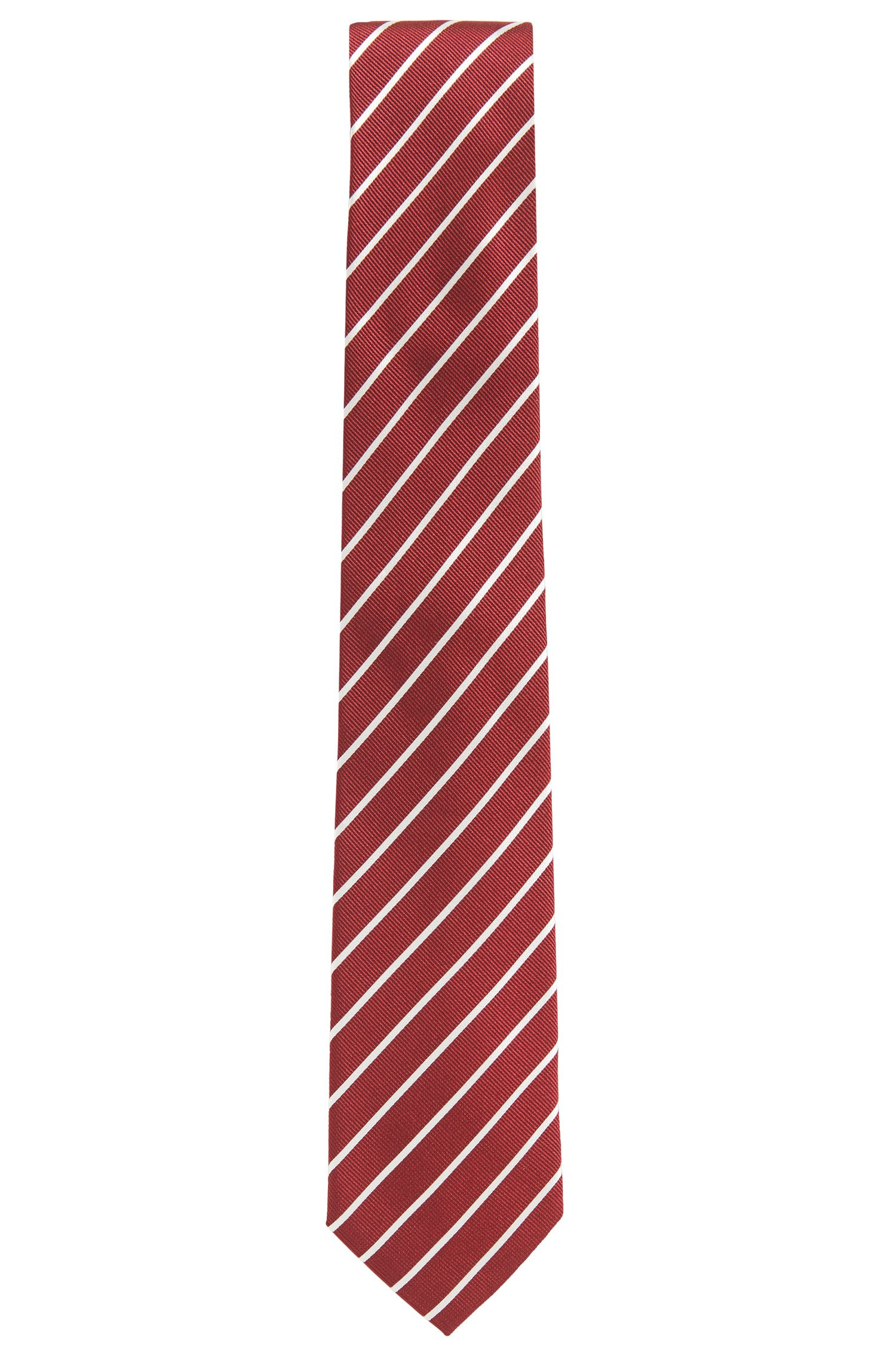 Cravatta a righe in seta jacquard