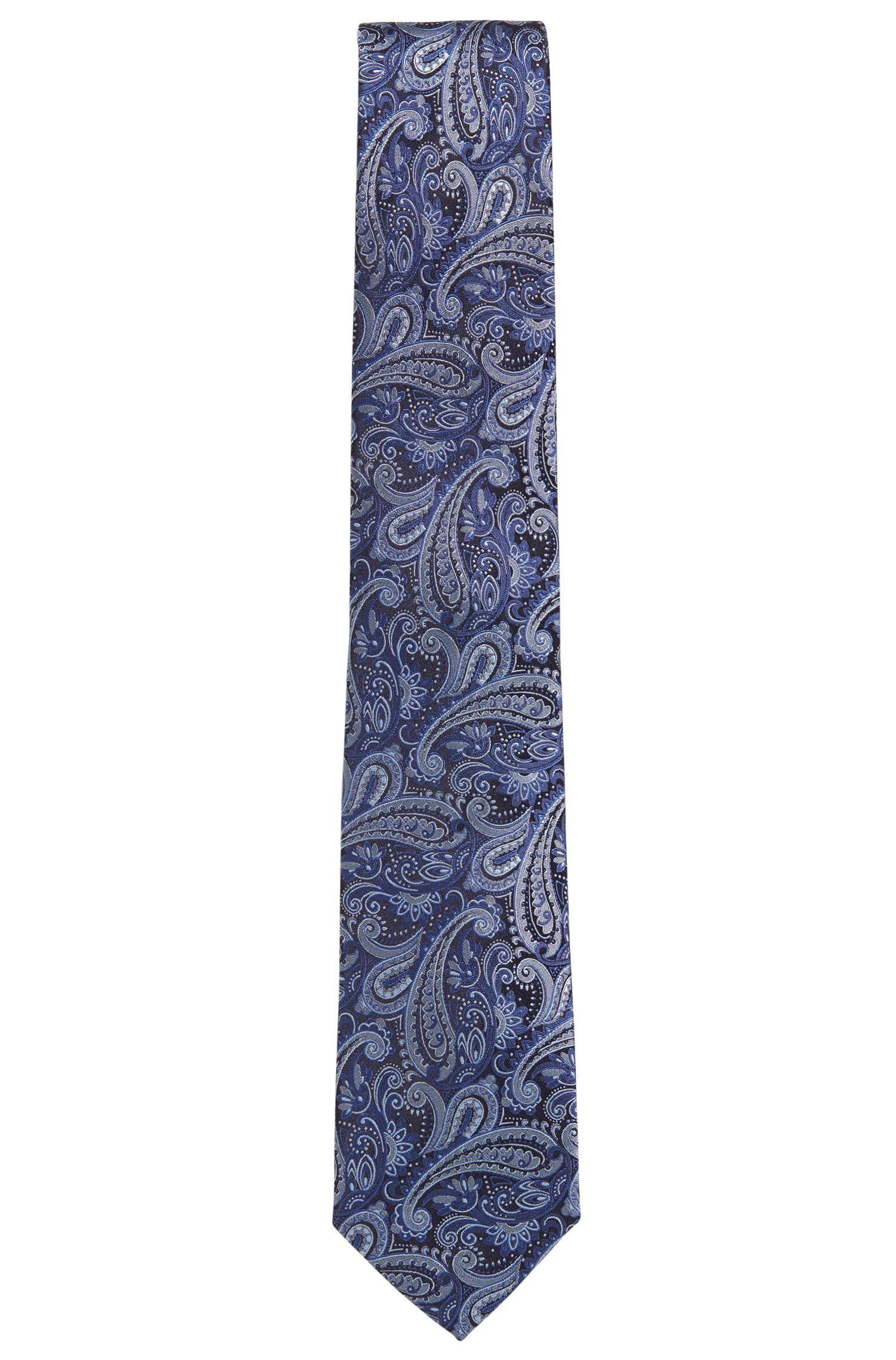 Cravate en jacquard de soie à motif cachemire