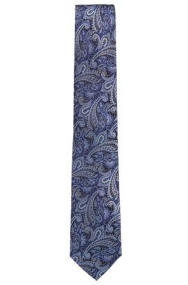 Krawatte aus Seiden-Jacquard mit Paisley-Muster, Türkis