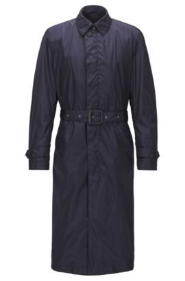 Waterafstotende regular-fit  trenchcoat, Donkerblauw