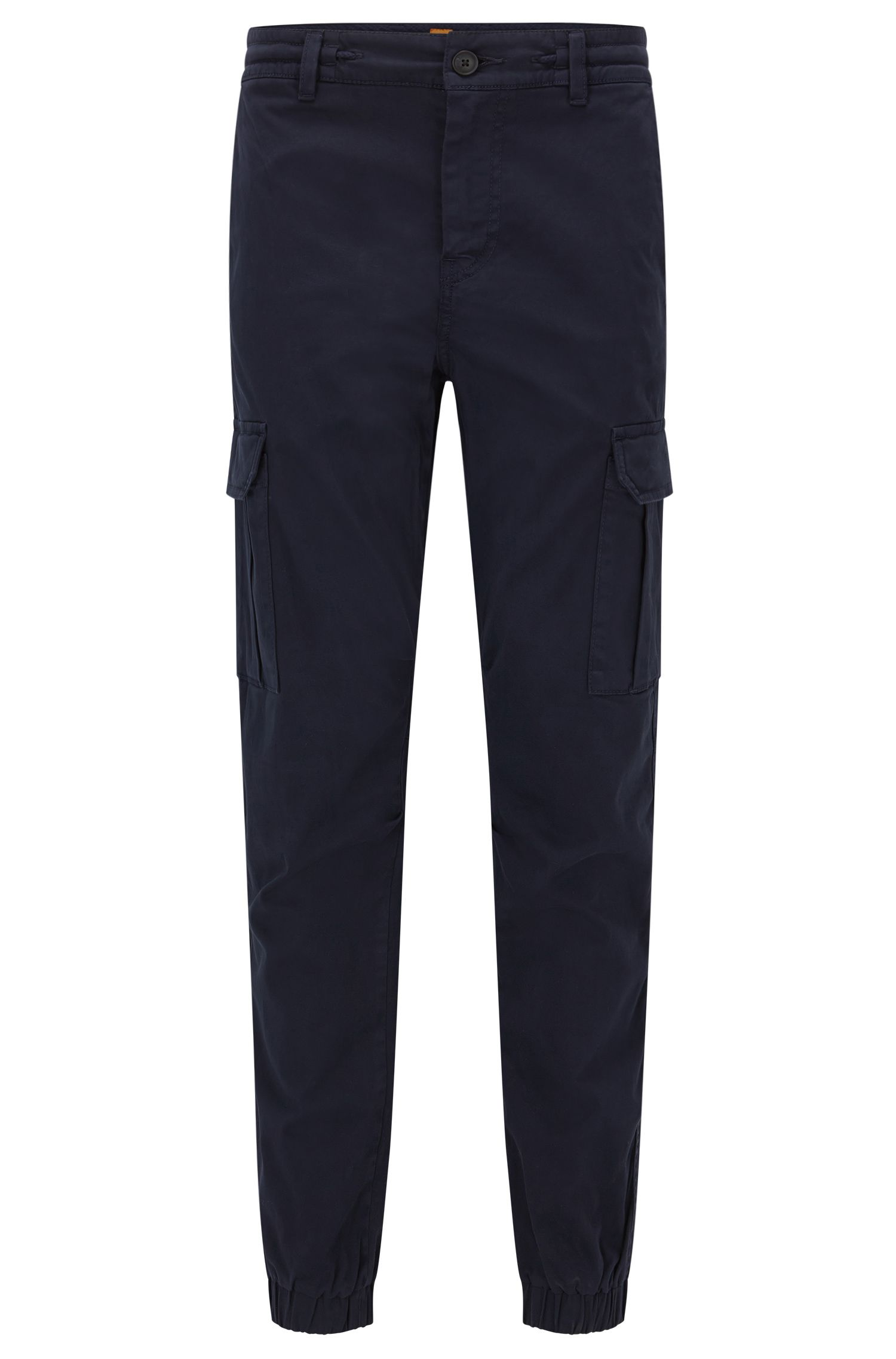 Tapered-fit cargo trousers in stretch cotton